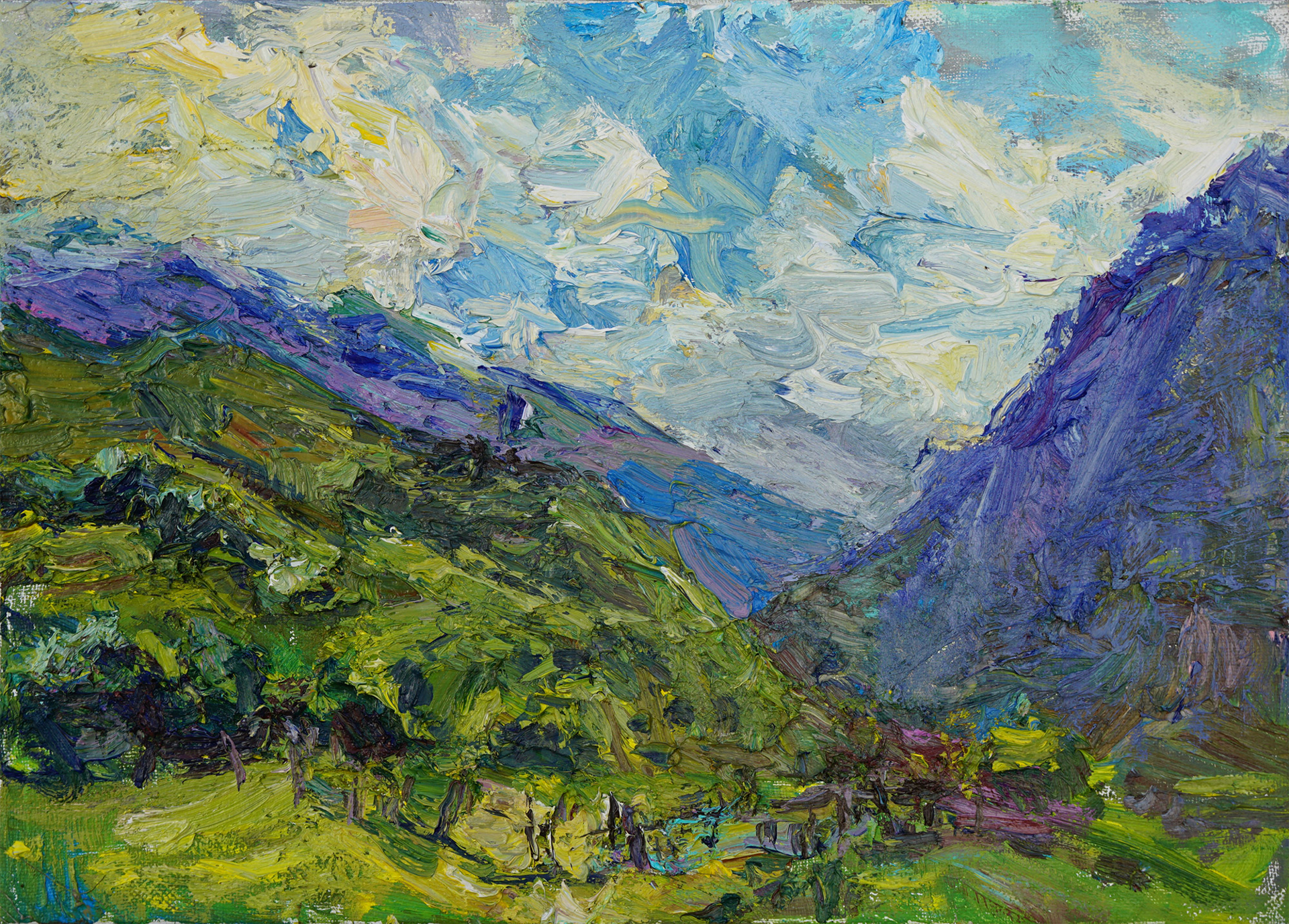Mountain Evening by Ulrich Gleiter