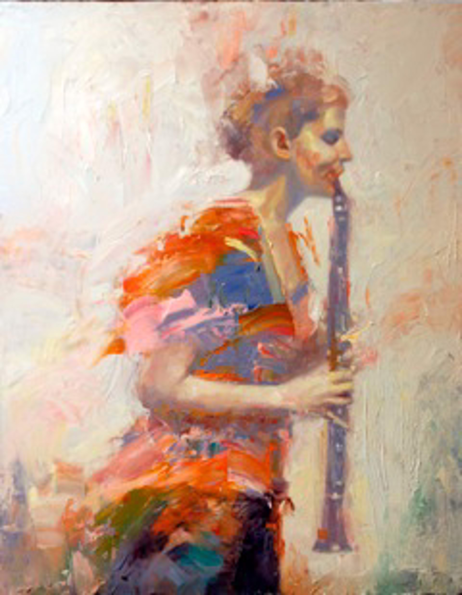 Clarinet Player by Chris Hopkins
