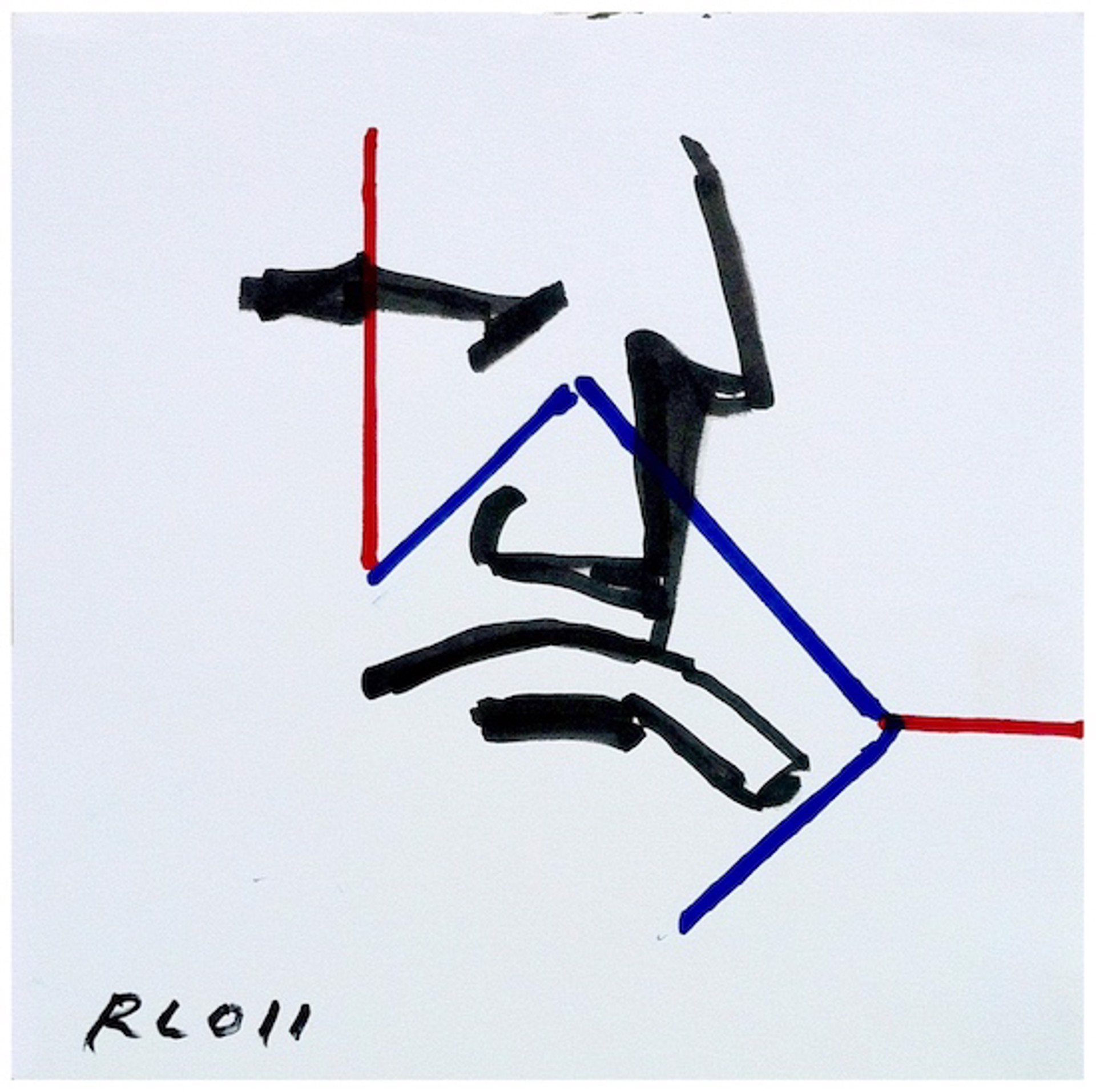 Untitled (Brute with Zig Zag) by Robert Loughlin