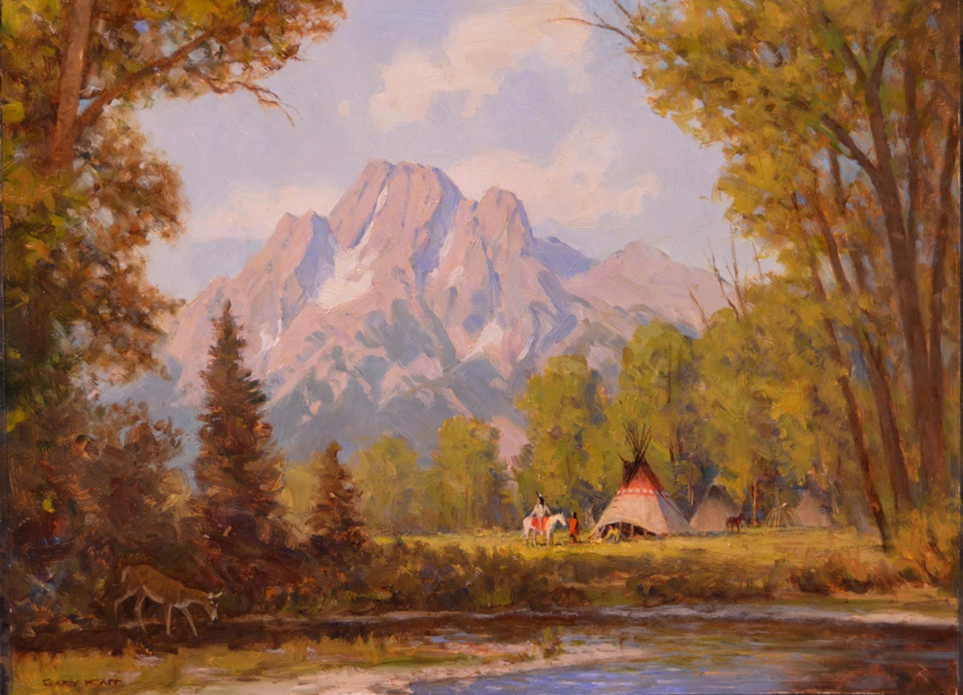 Piegan Summer Camp by Gary Kapp