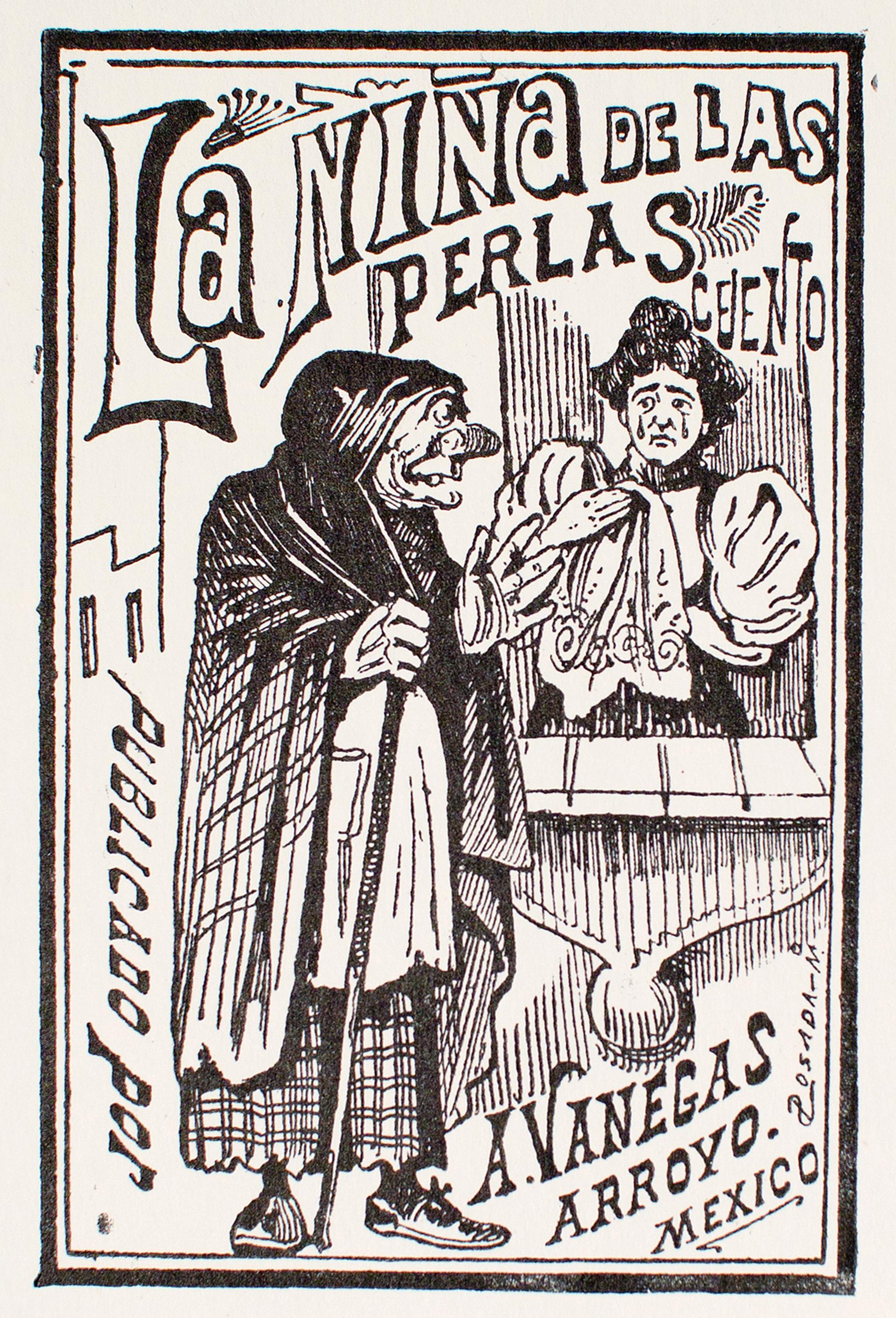 La Niña de las Perlas by José Guadalupe Posada (1852 - 1913)