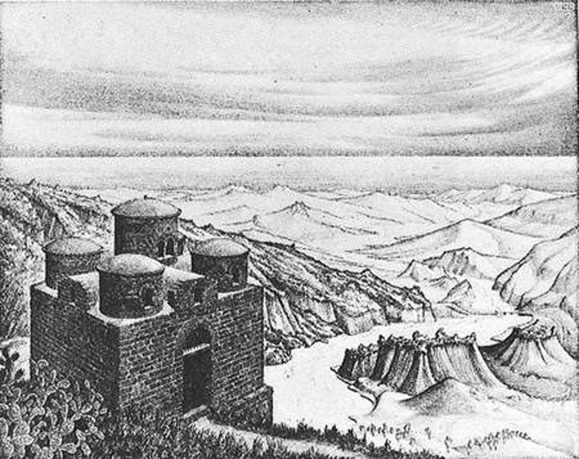 Cattolica of Stilo, Calabria by M.C. Escher
