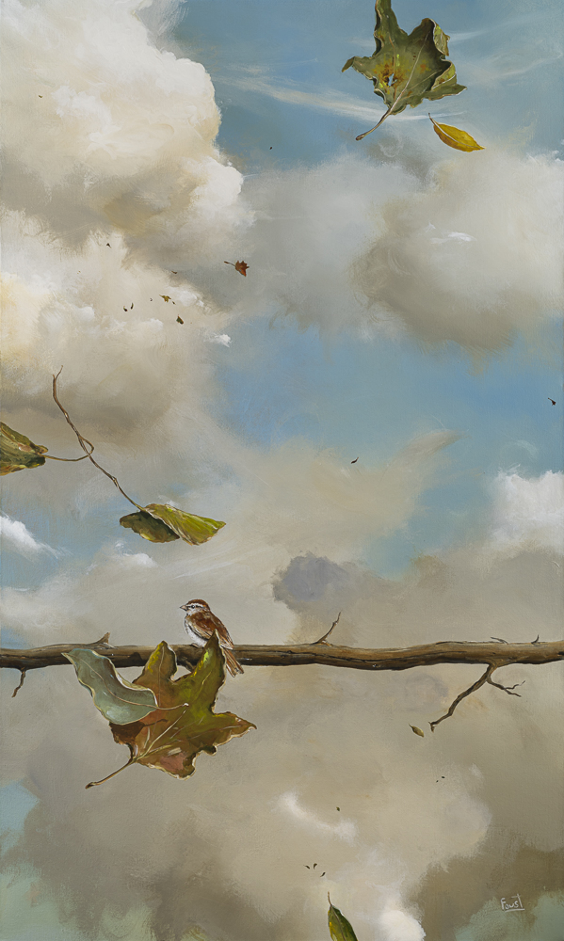 Alone with the Wind and Leaves by Jeff Faust