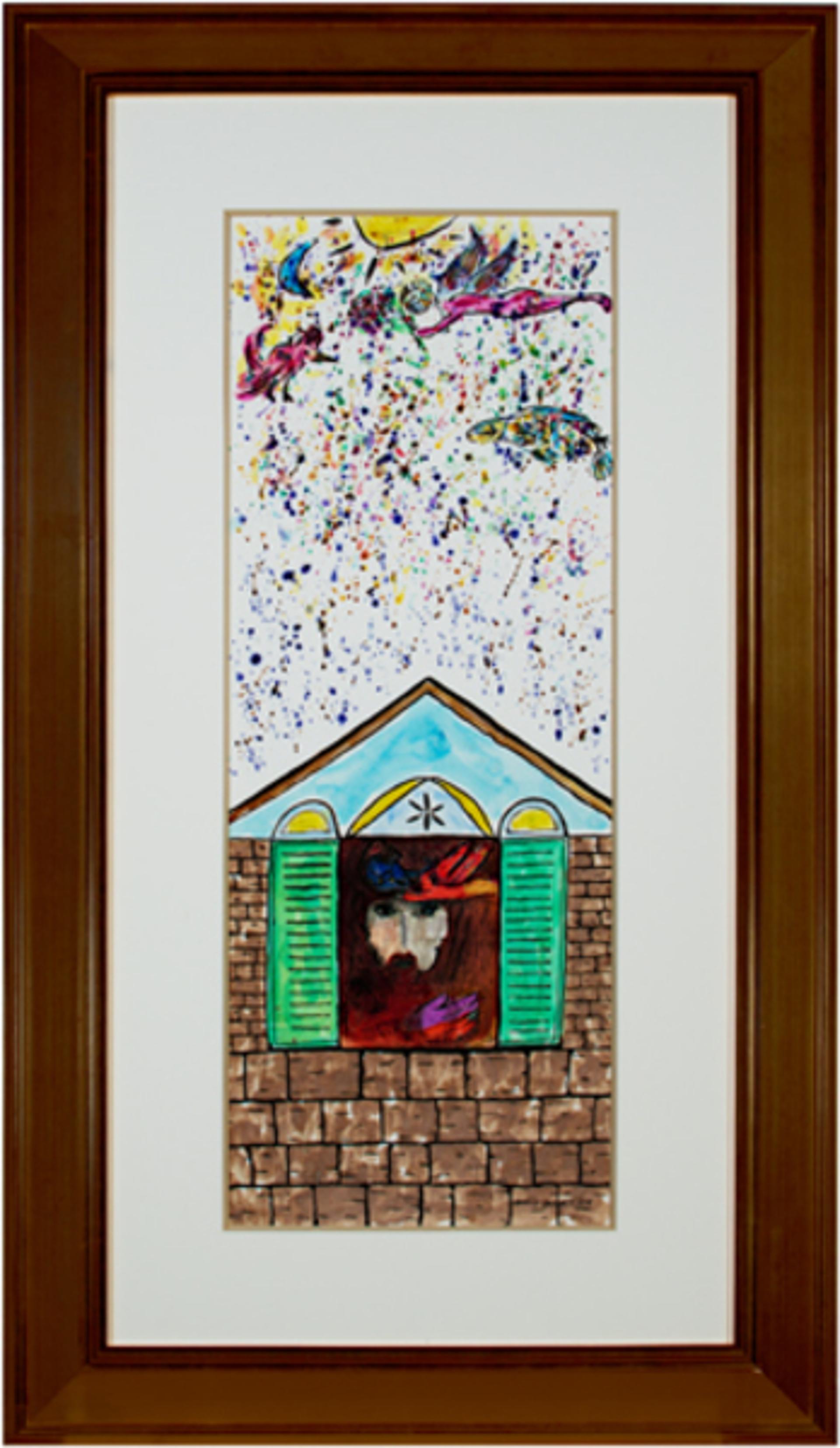 Homage to Chagall:  David & Bathsheba Sunrise Celebration by David Barnett