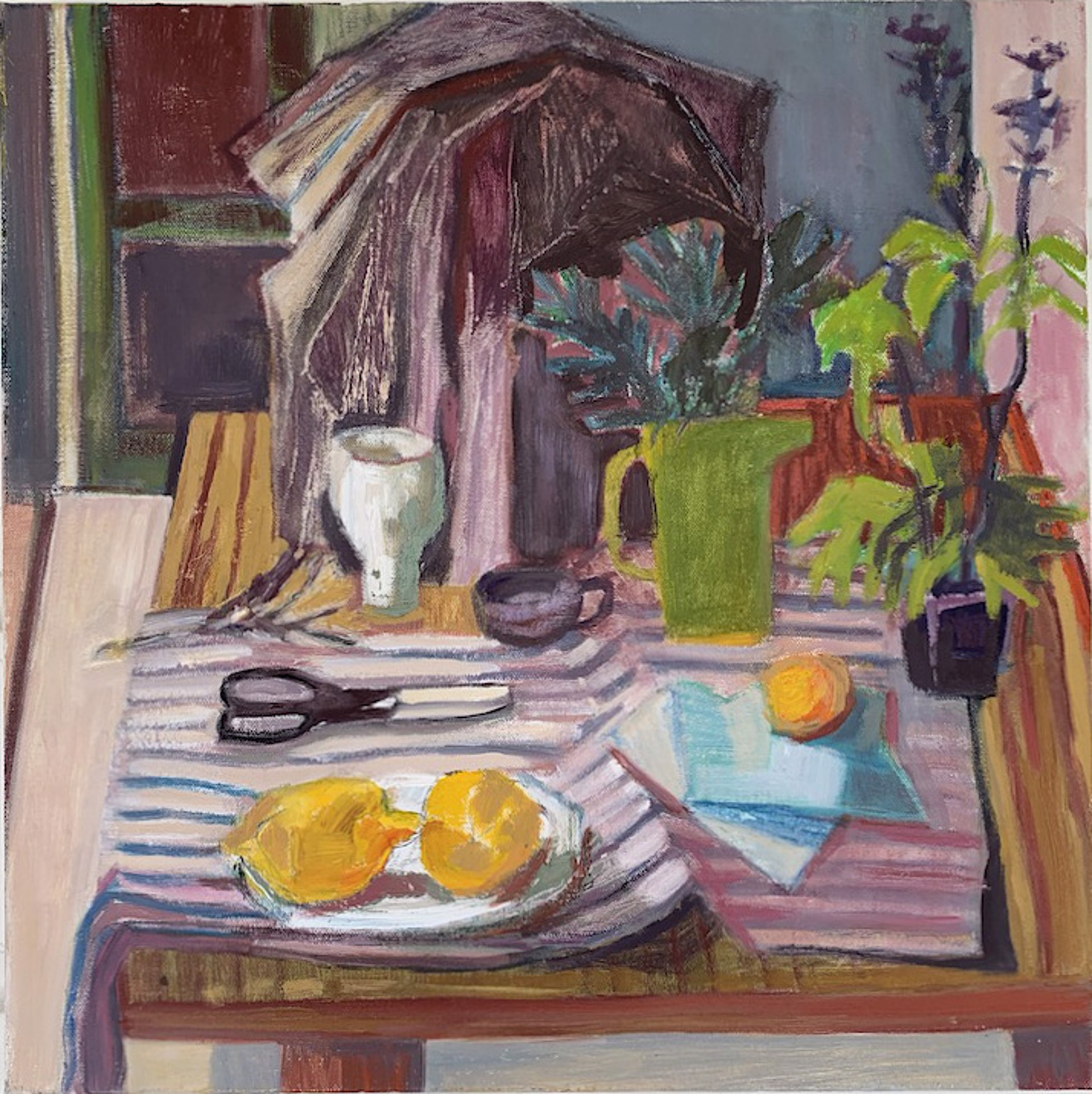 Still Life with Green Pitcher by Maggie Shepherd