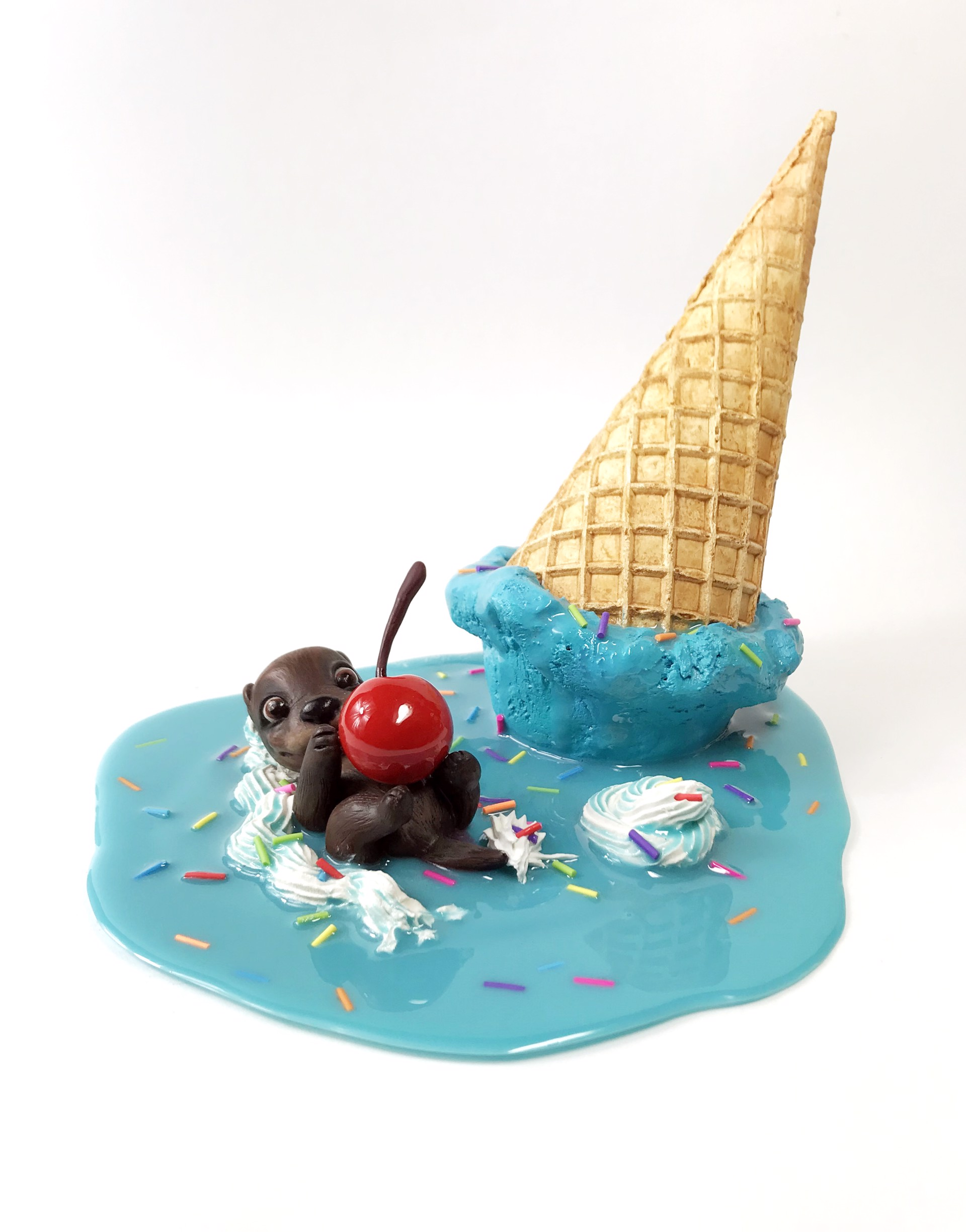 Blue Moon - Waffle Cone Otter by Corina St. Martin