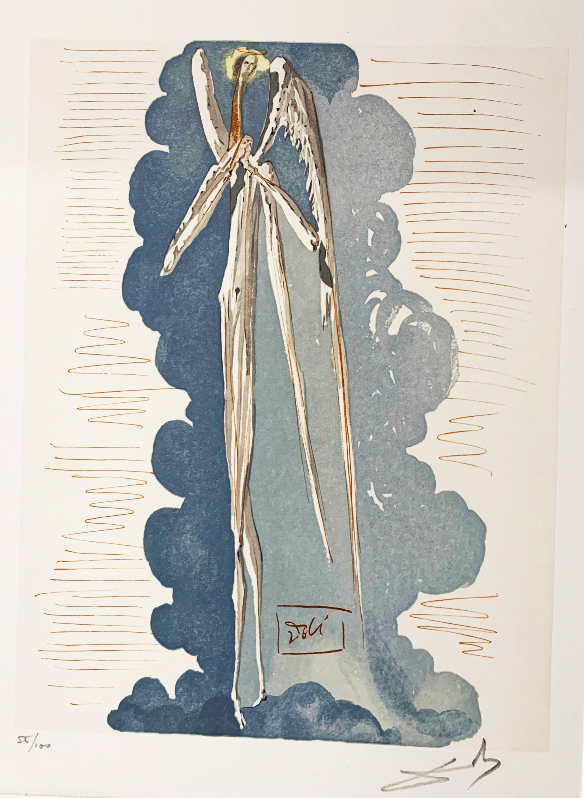 Paradise Canto 22: Angel of the Seventh Sphere from the Divine Comedy by Salvador Dali (1904 - 1989)