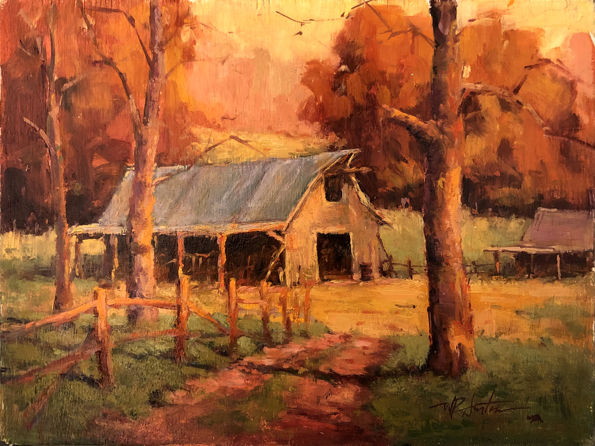 Barn in the Hollow by Perry Austin