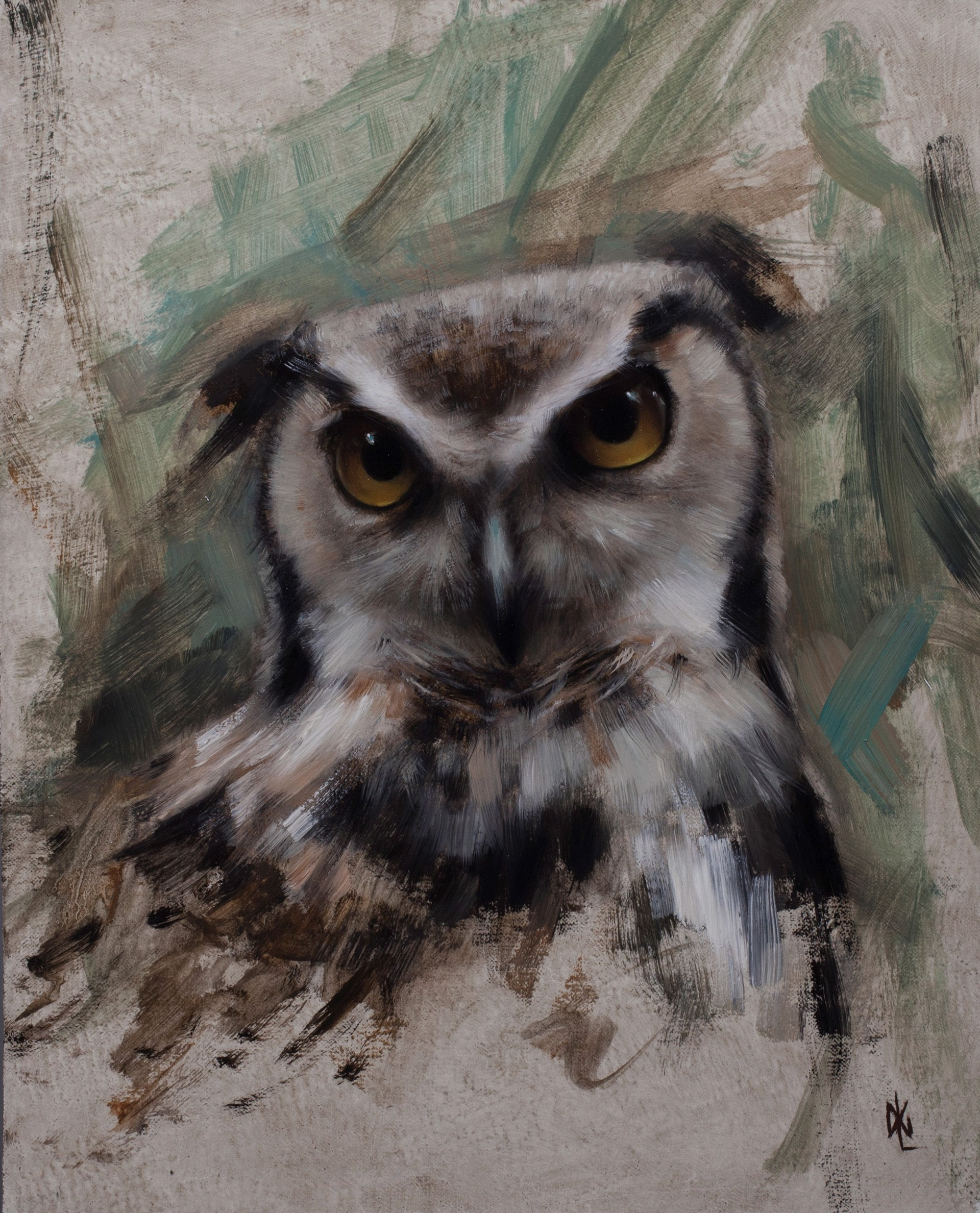Horned Owl by David Gluck