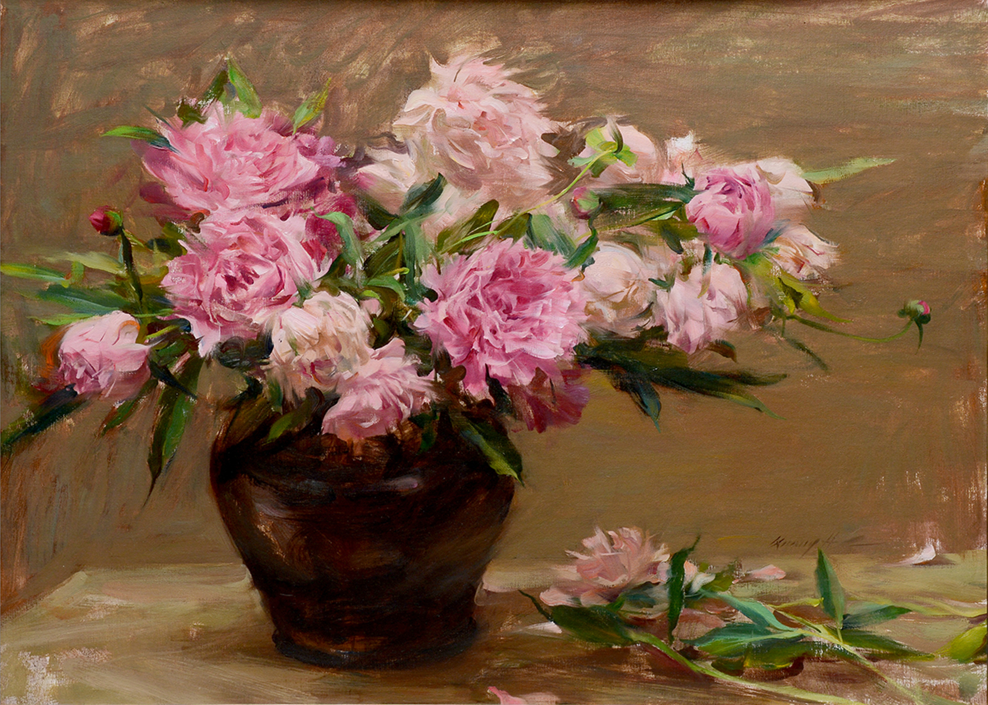Peonies Bunch by Quang Ho