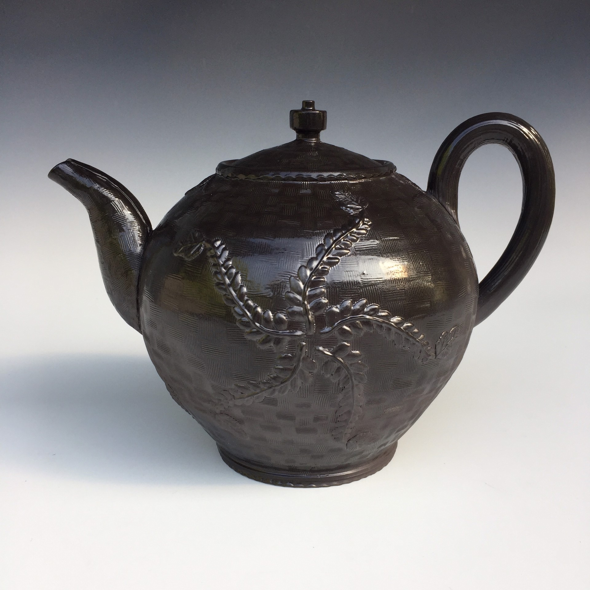 Large Blackware Teapot (heavy salt) by Linda Sikora