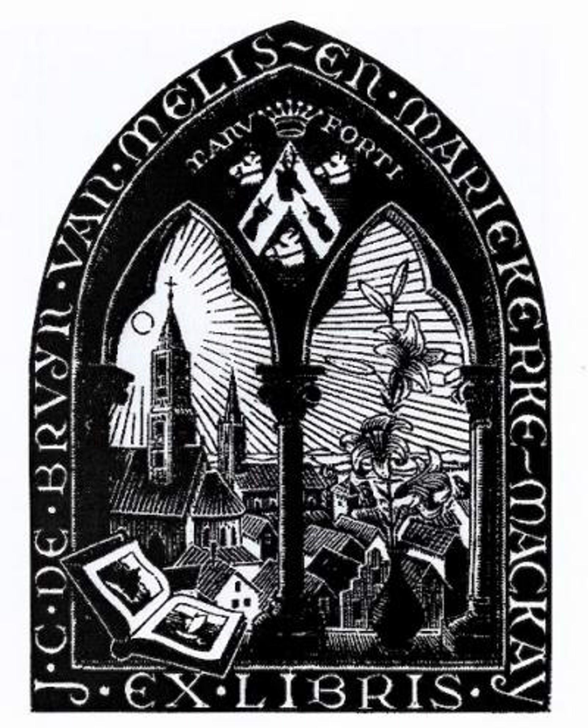 Bookplate J.C. de Bruyn van Melis by M.C. Escher