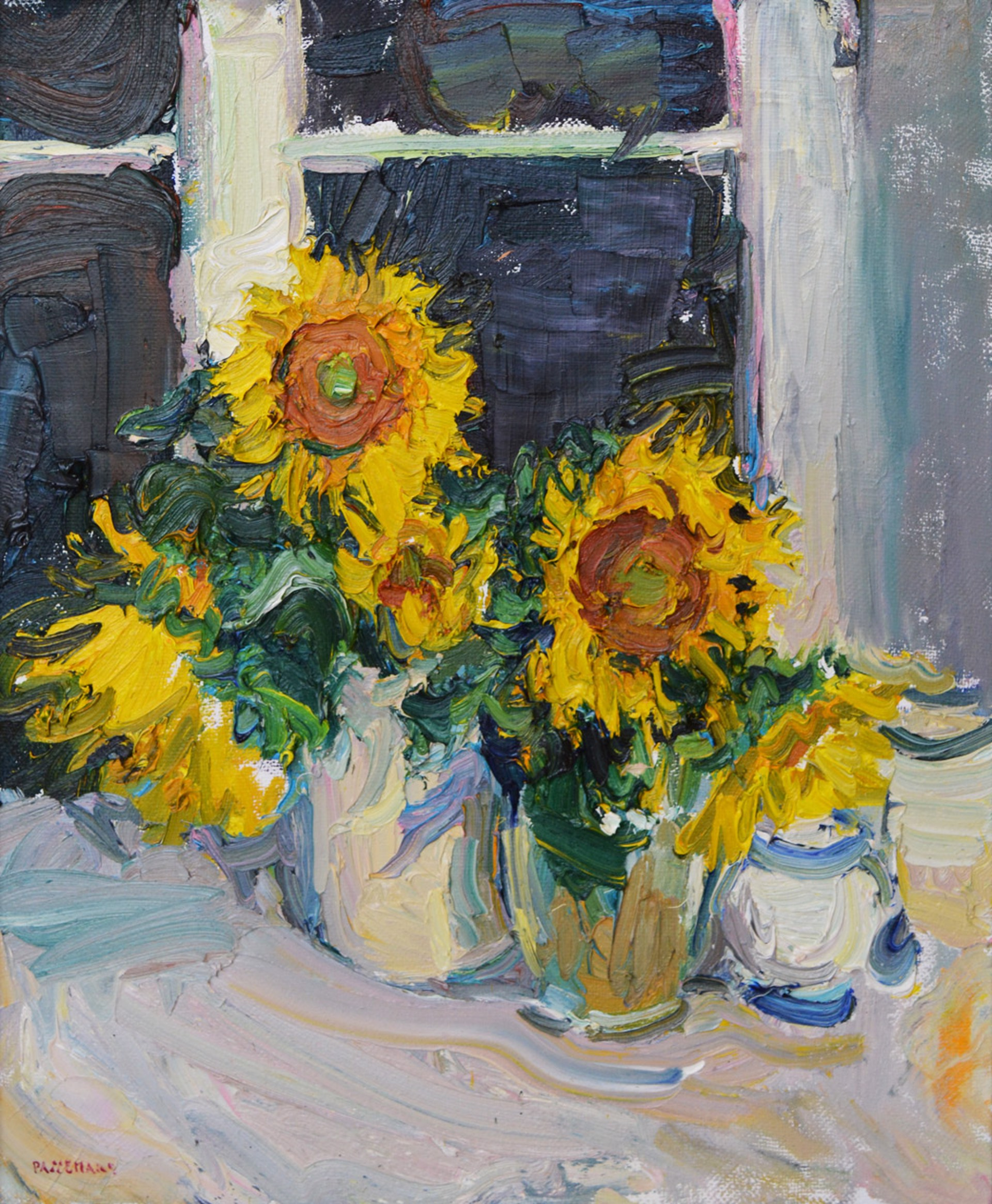 Sunflowers at Night by Antonin Passemard