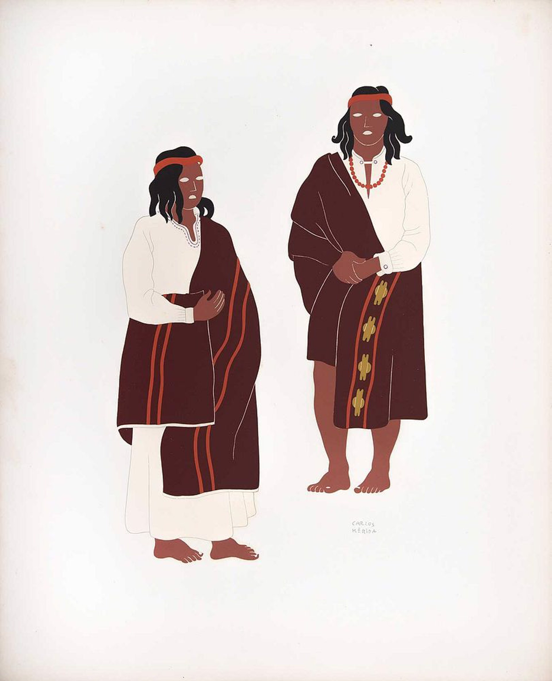 Tarahumaras of the State of Chihuahua by Carlos Mérida (1891 - 1985)