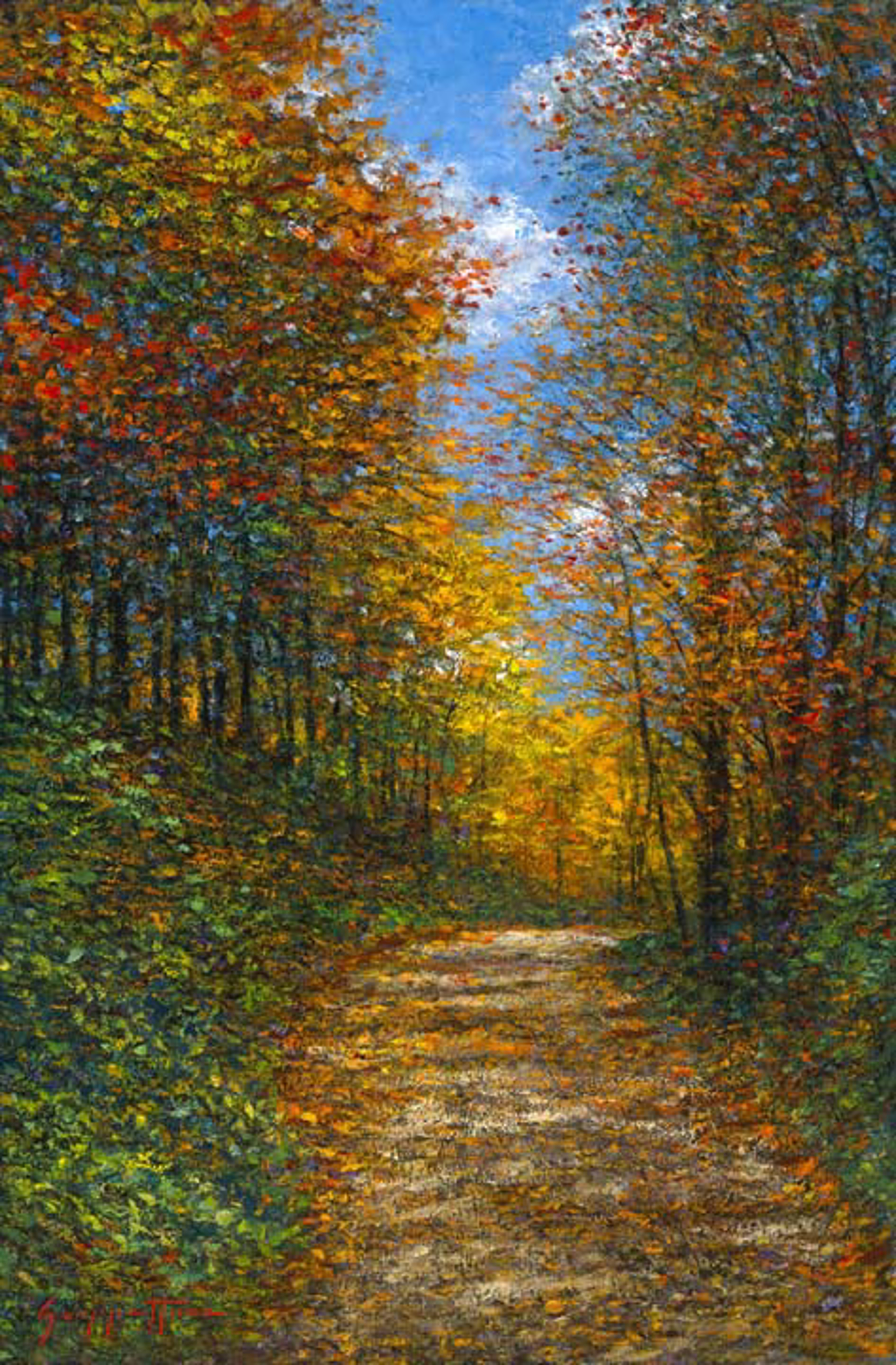 Wooded Lane by James Scoppettone