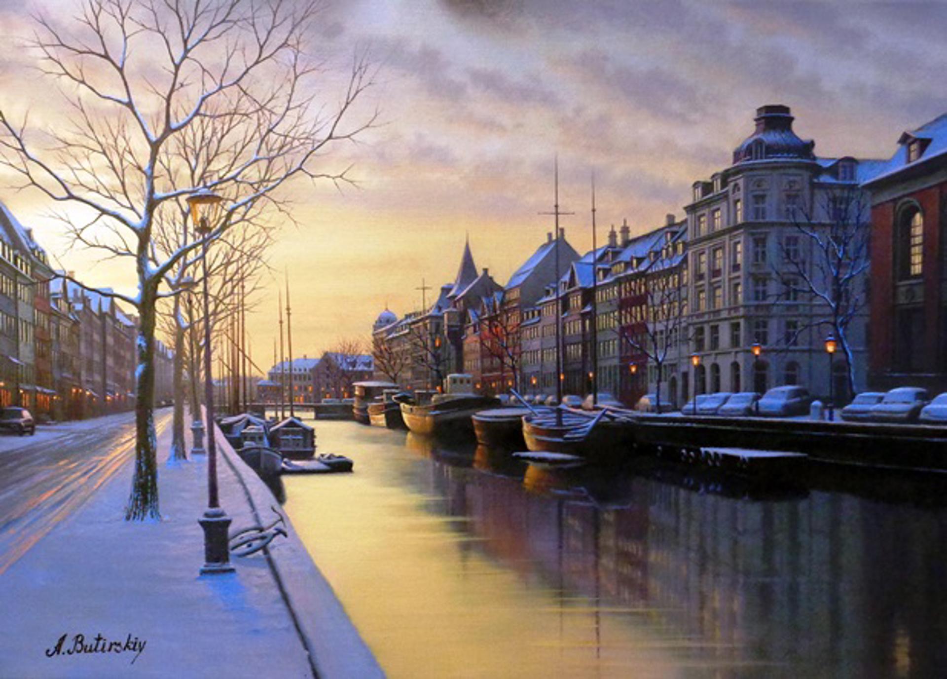 Winter Morn- Amsterdam by Alexei Butirskiy