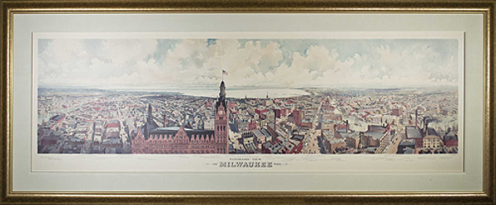 Panoramic View of Milwaukee Taken From City Hall Tower by Unknown
