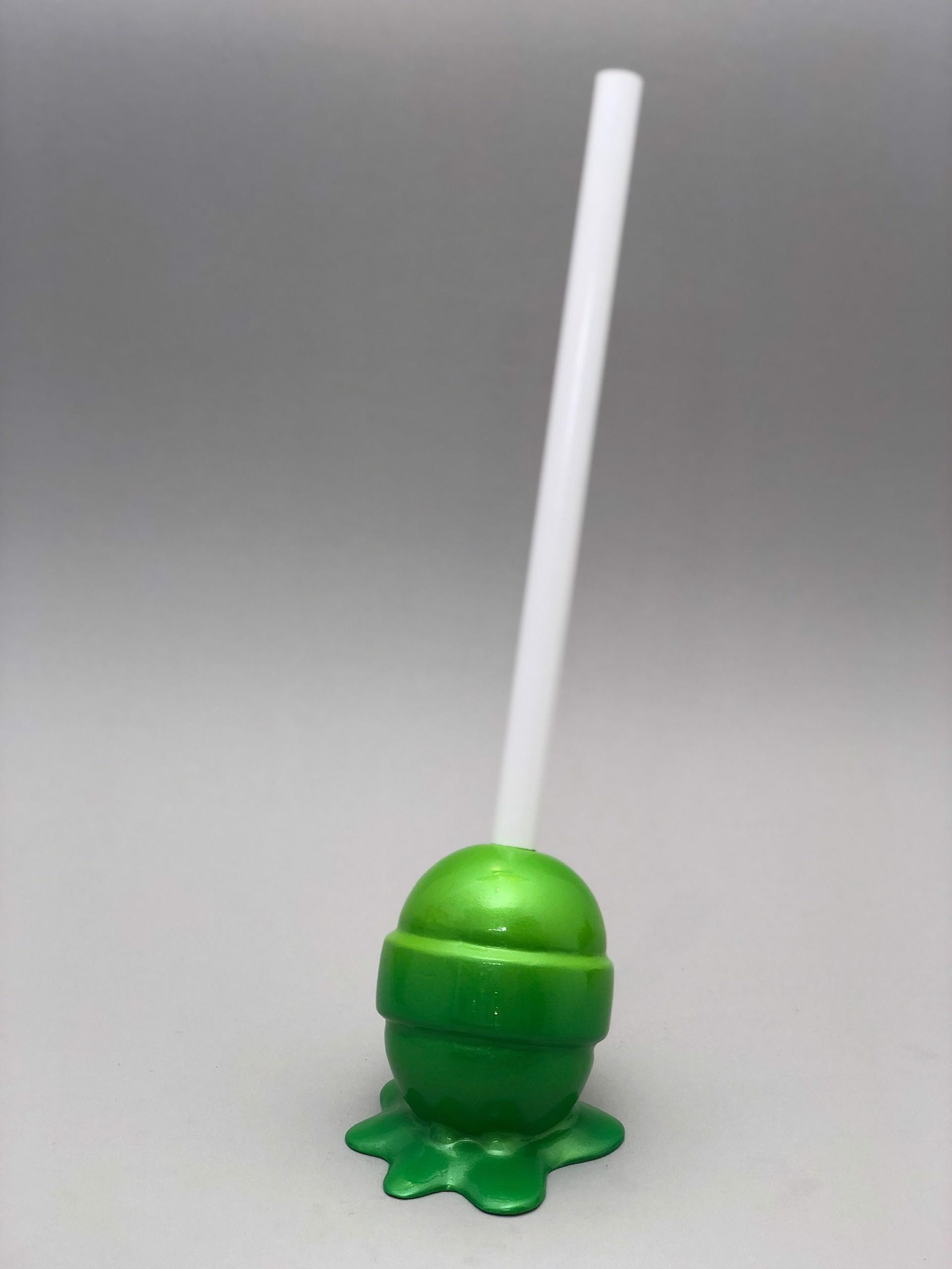 The Sweet Life, small, green Lollipop by Elena Bulatova