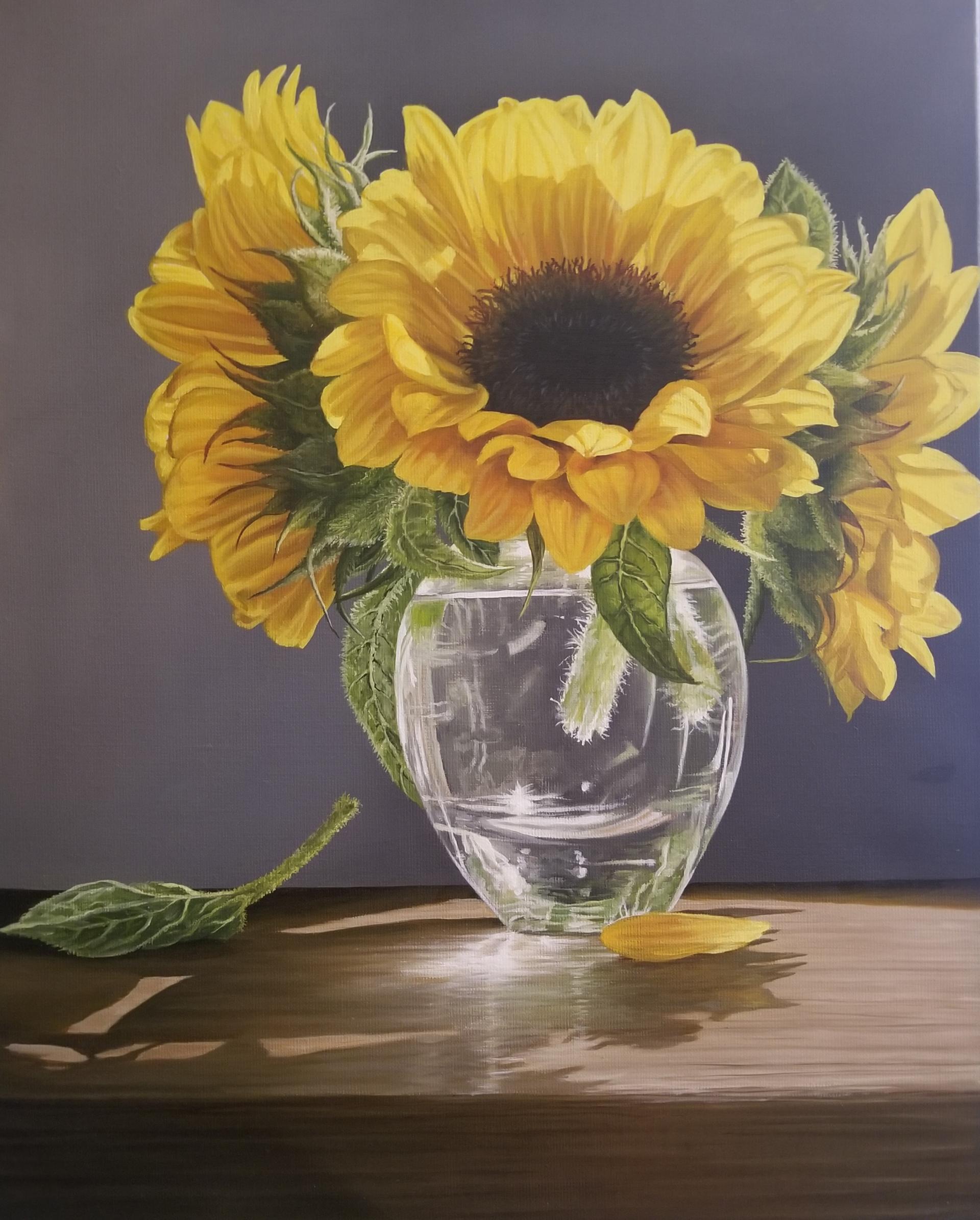 Sunflowers in Vase by Loren DiBenedetto, OPA