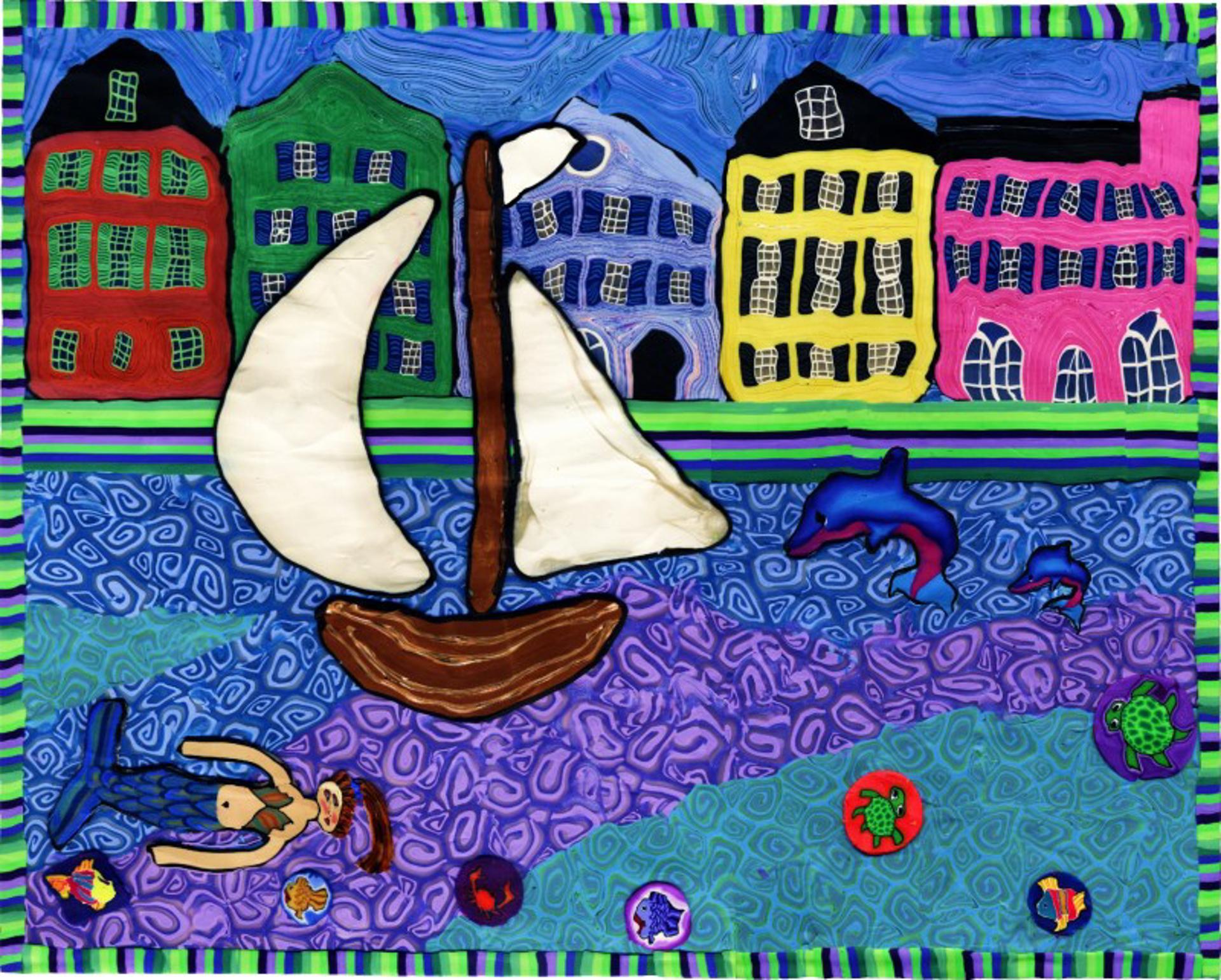 Sailing in Charleston Harbor by Samantha Long - Prints