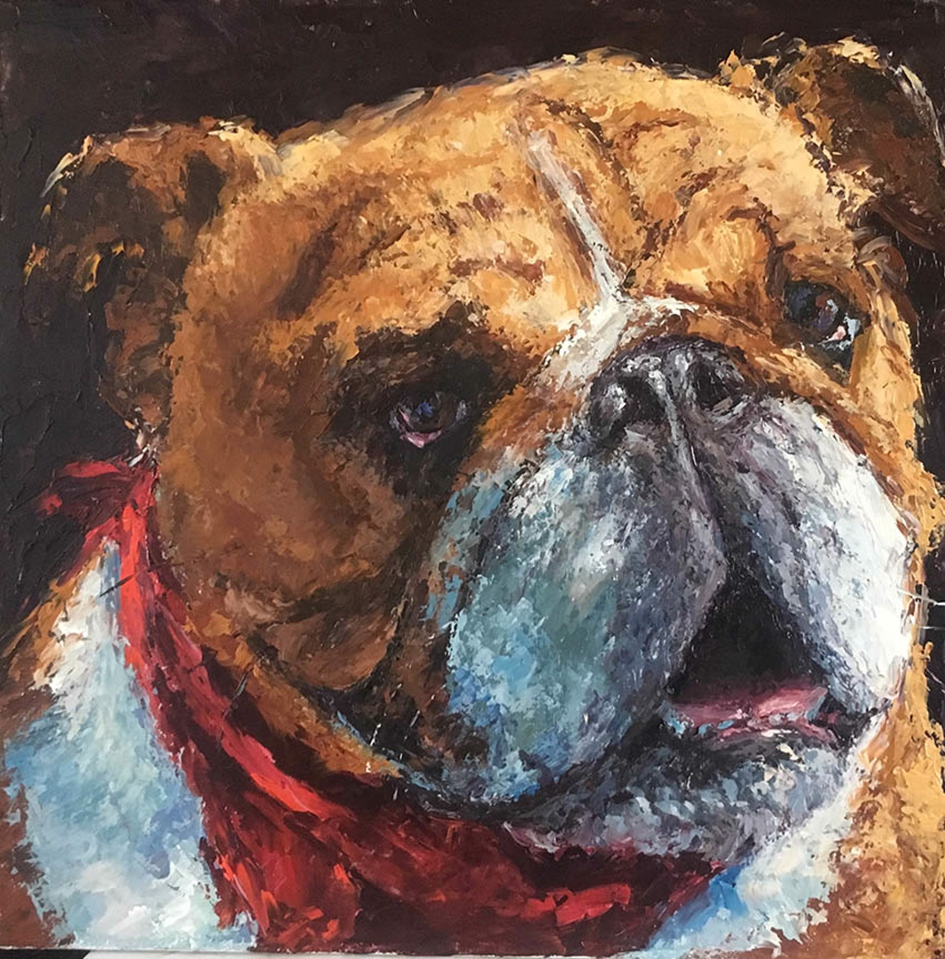 Bulldog by Elaine Hughes