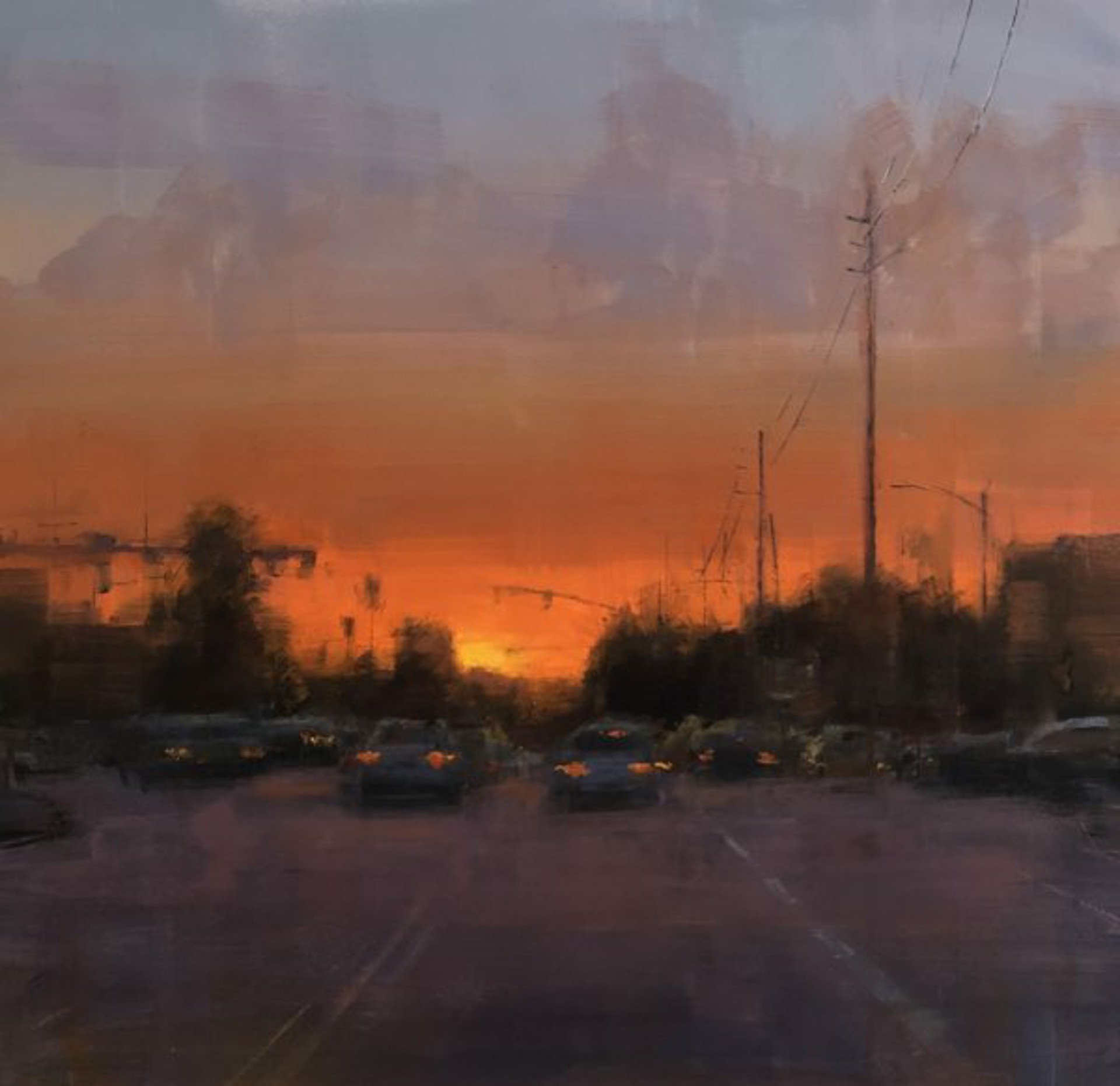 Bryan Mark Taylor: Newport Sunset by Bryan Mark Taylor