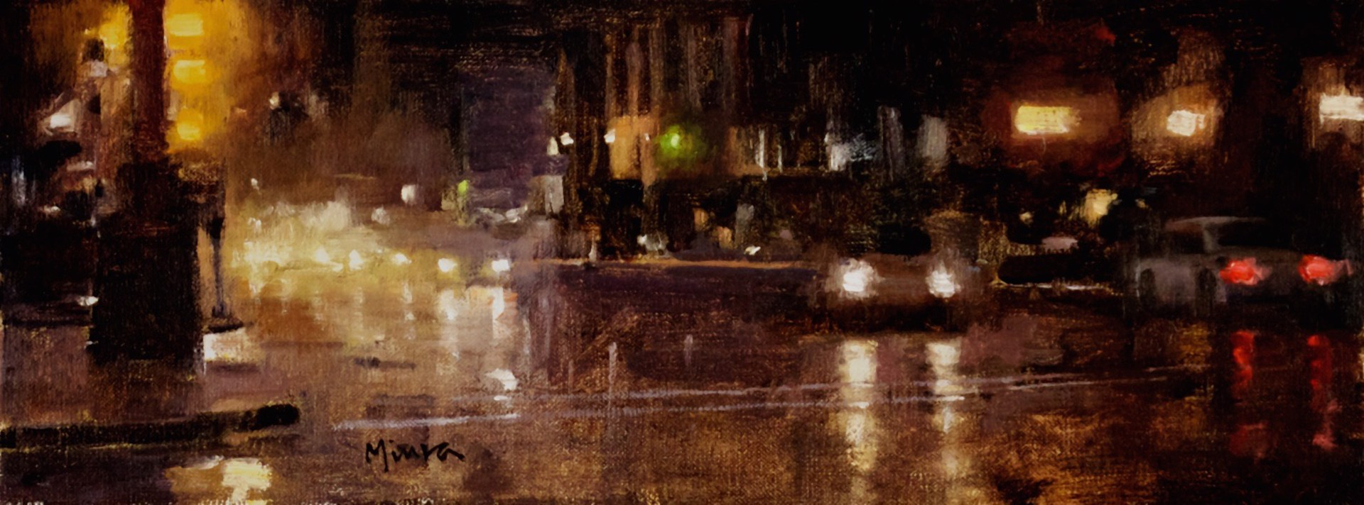 Rainy Night, Downtown Chicago by Terry Miura