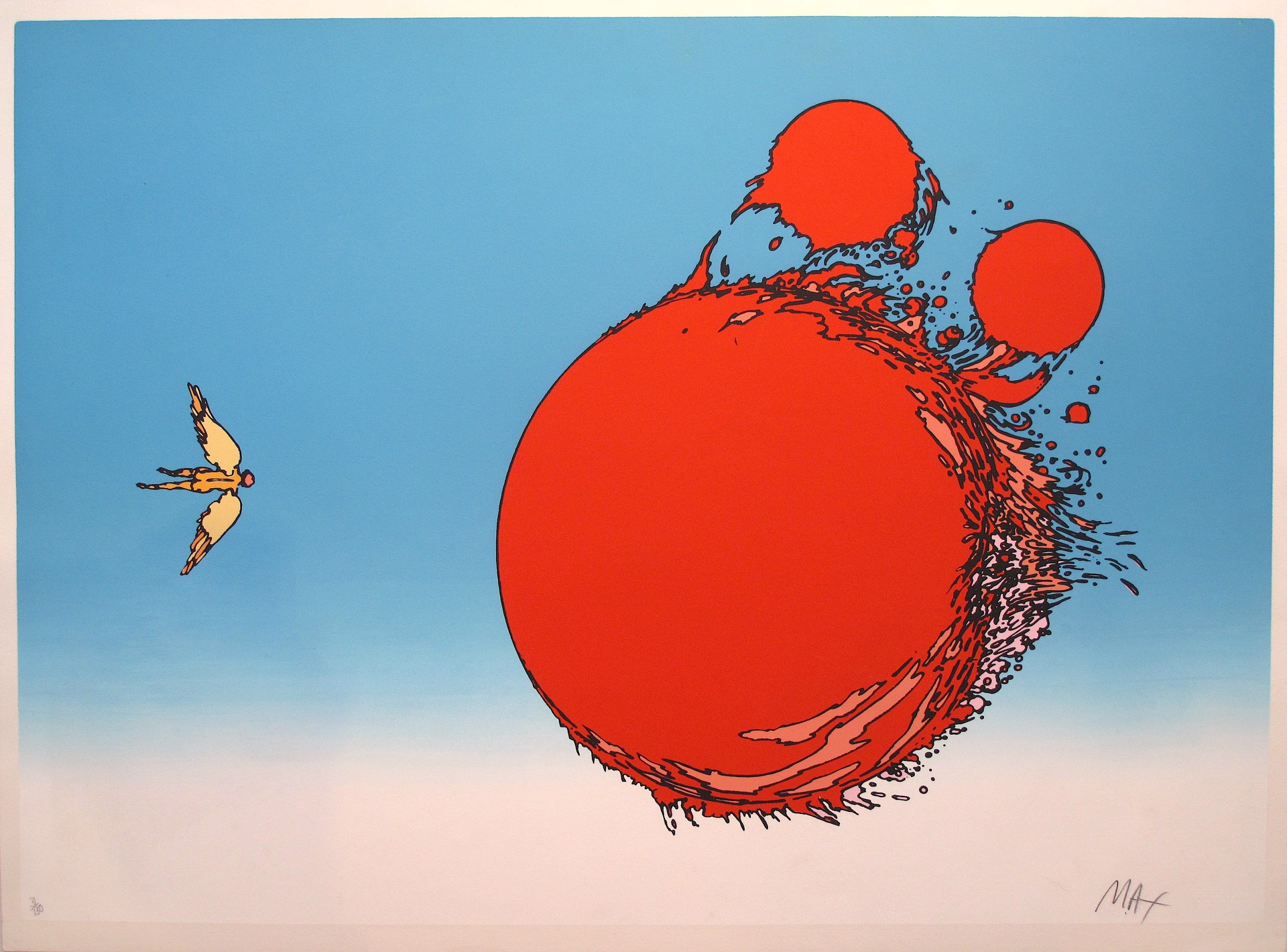 Ball of Fire - Icarus by Peter Max