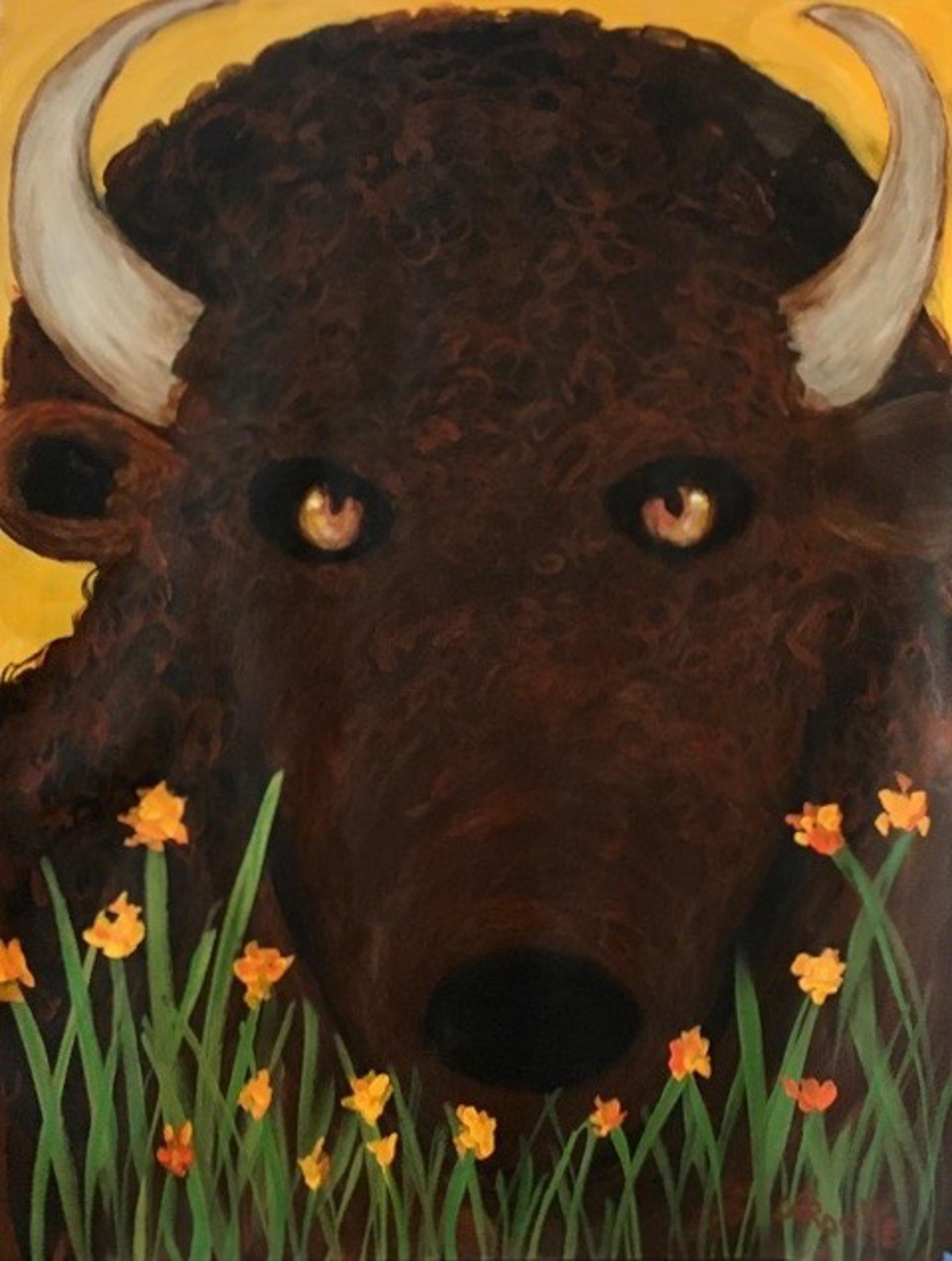 Wild Brown Buffalo by Carole LaRoche