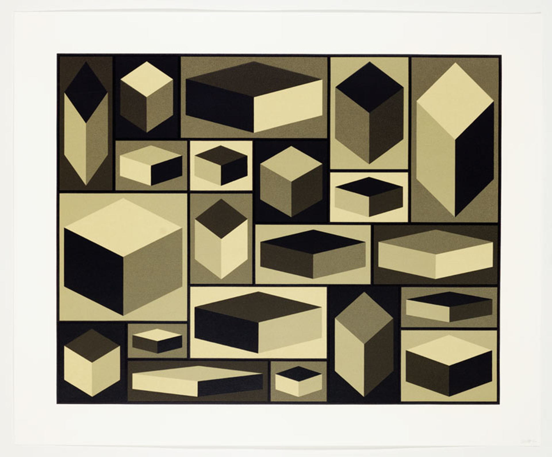 Distorted Cubes Portfolio (5) by Sol LeWitt