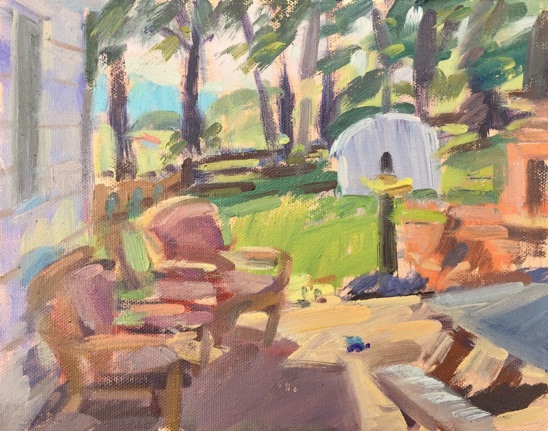 Summer Patio (study) by James Erickson