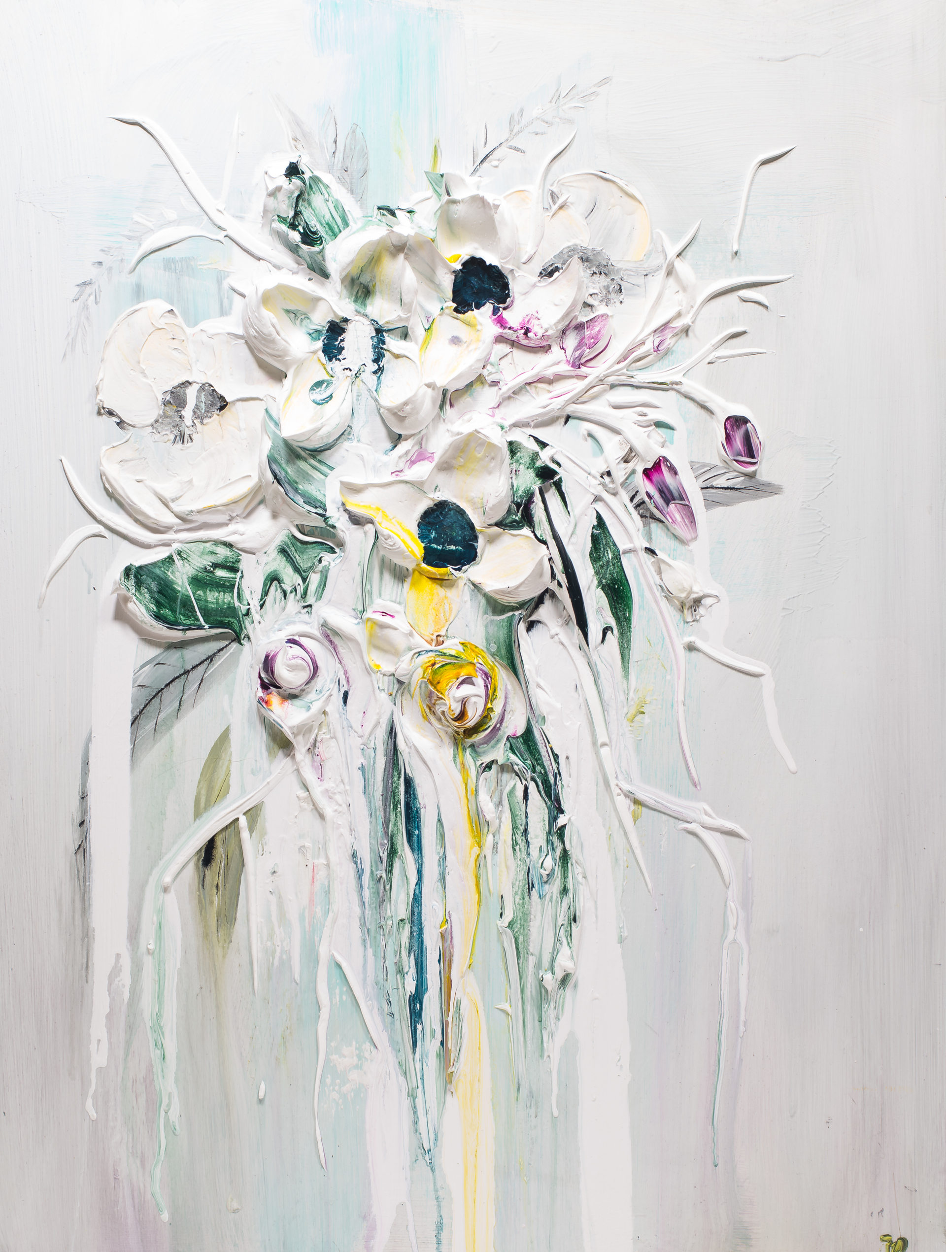 ABSTRACT FLORAL BOUQUET AFB40X30-2019-002 by JUSTIN GAFFREY