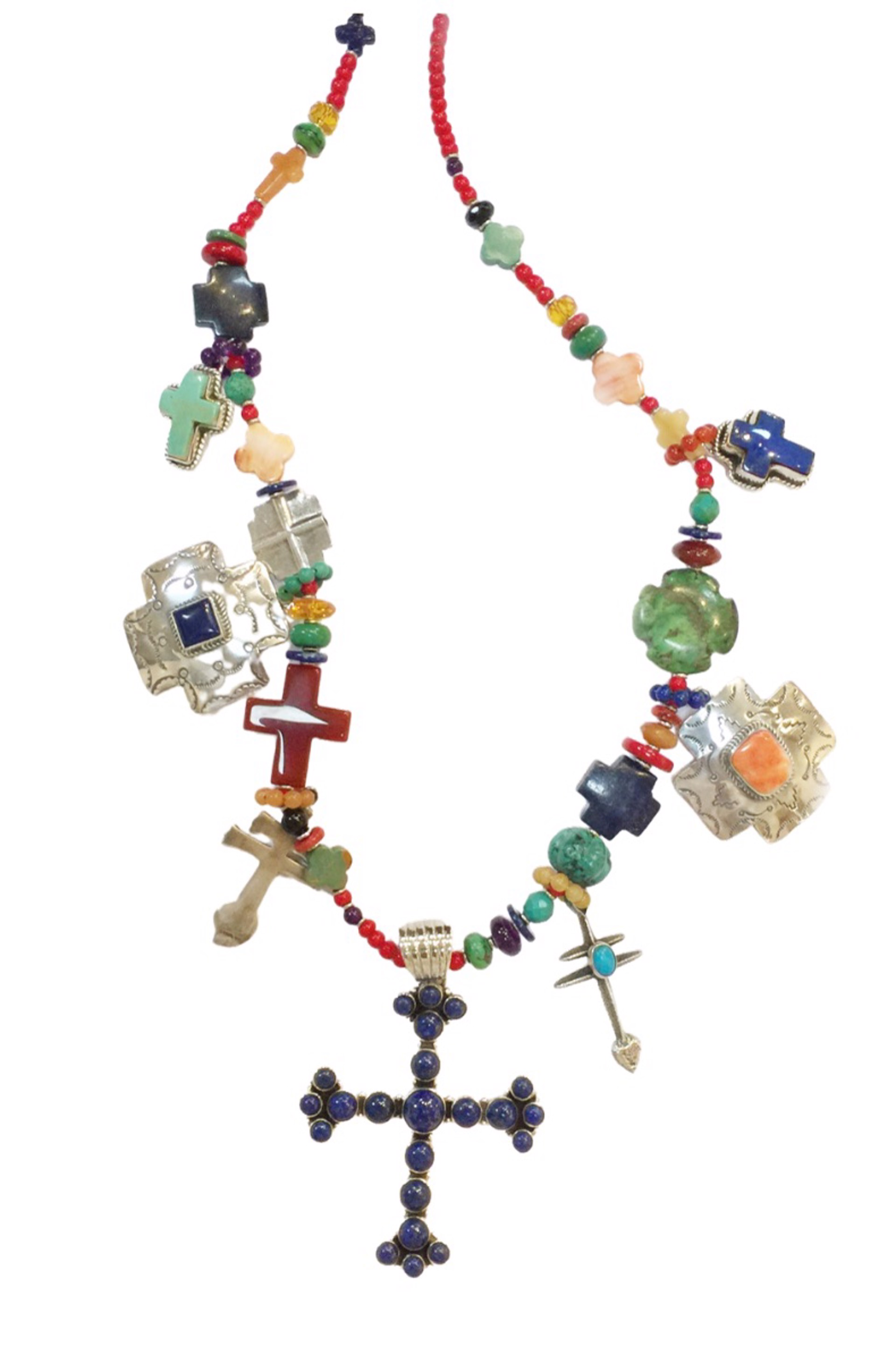 KY 1348 - Single Strand Multi Color Cross by Kim Yubeta