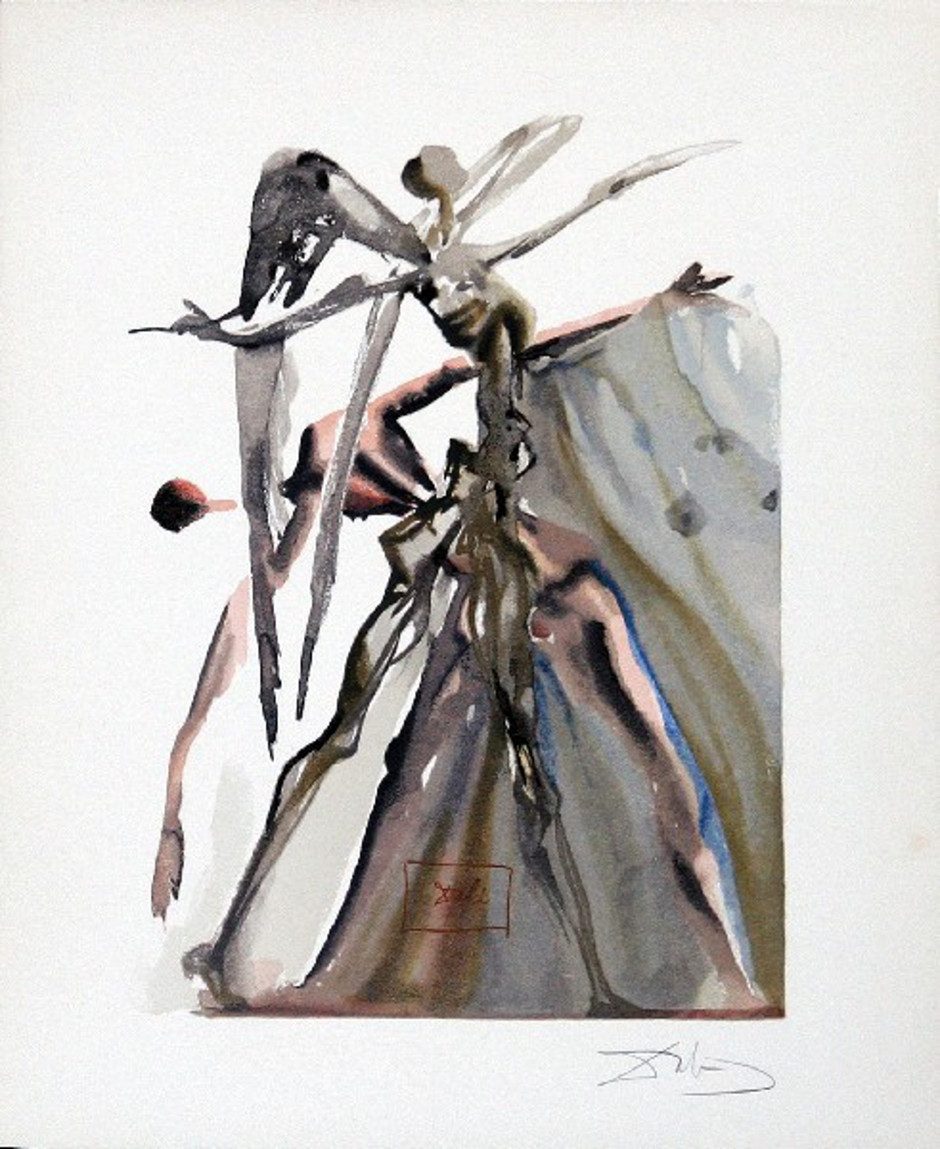 Purgatory Canto 4: The Negligent Ones from The Divine Comedy by Salvador Dali (1904 - 1989)