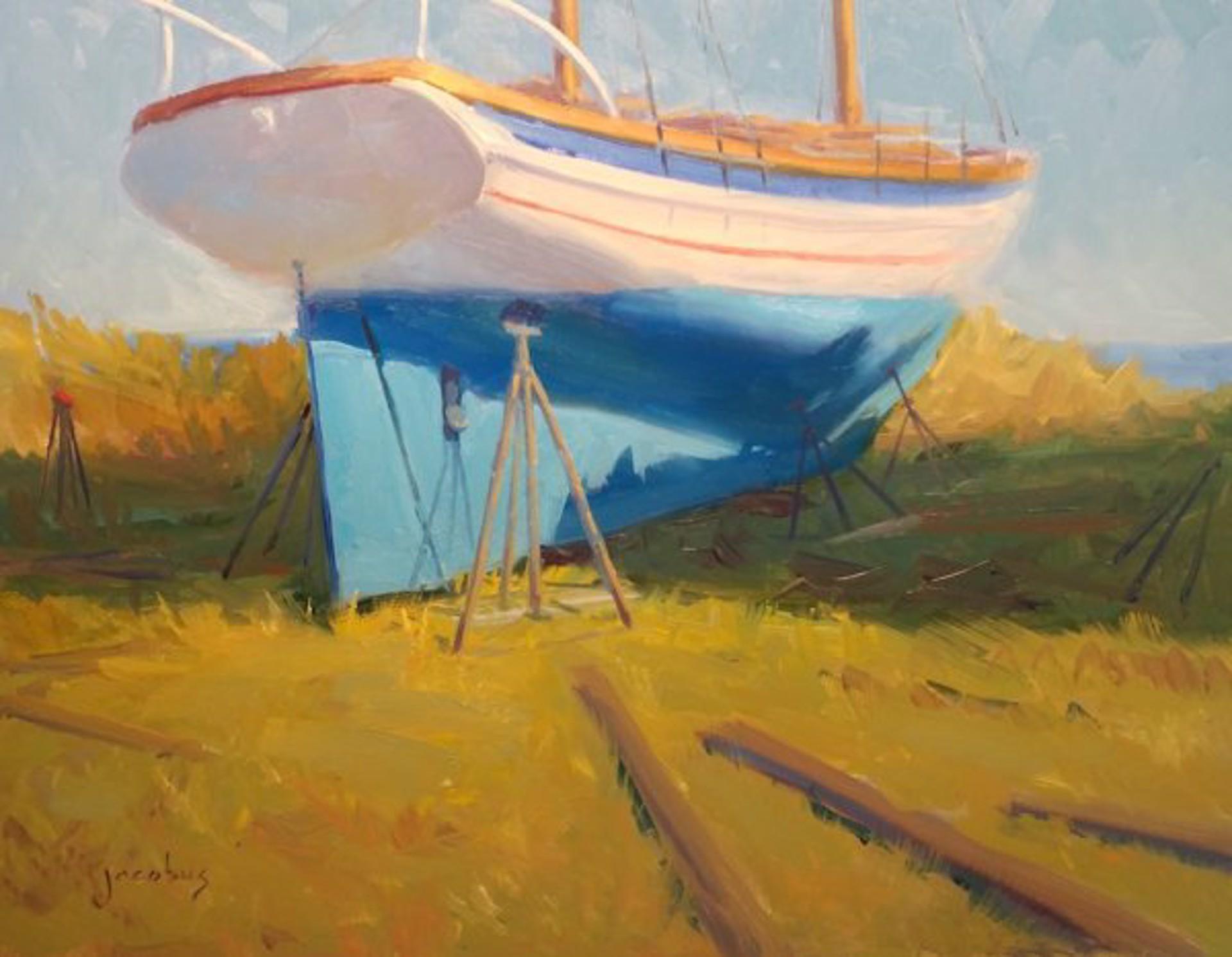 Blue Hull by Jacobus Baas