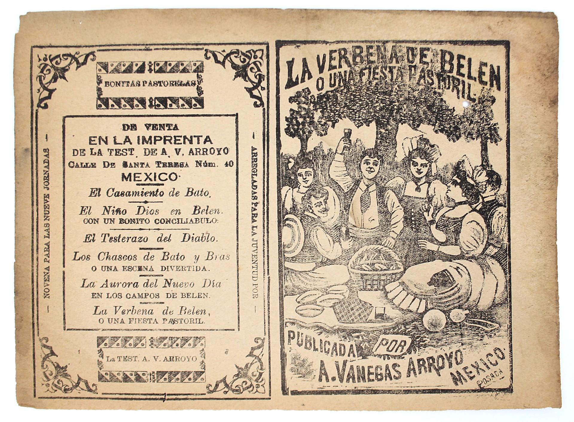 La Verbena de Belen o Una Fiesta Pastoril by José Guadalupe Posada (1852 - 1913)
