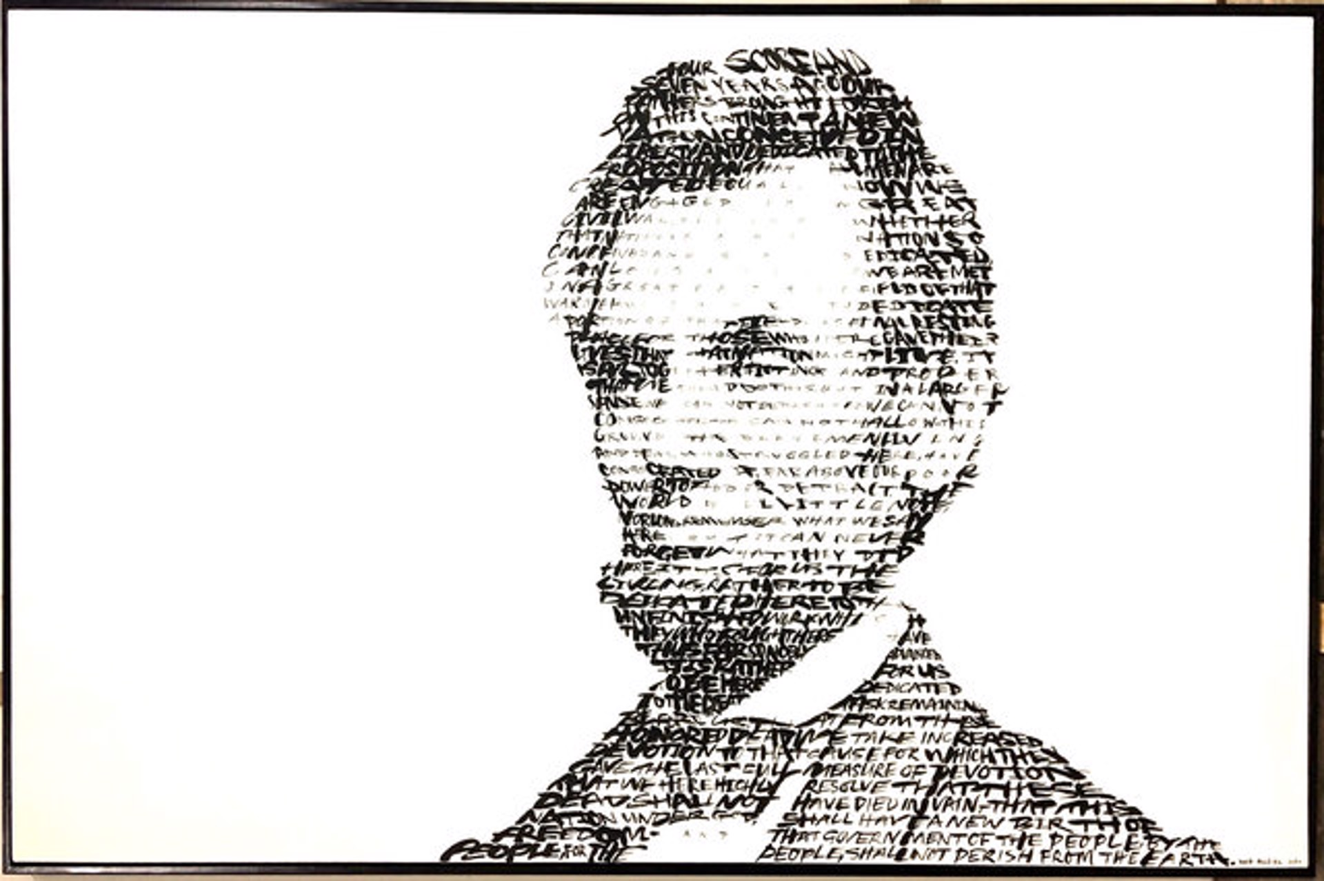Abraham Lincoln (Text: 'The Gettysburg Address') by David Hollier