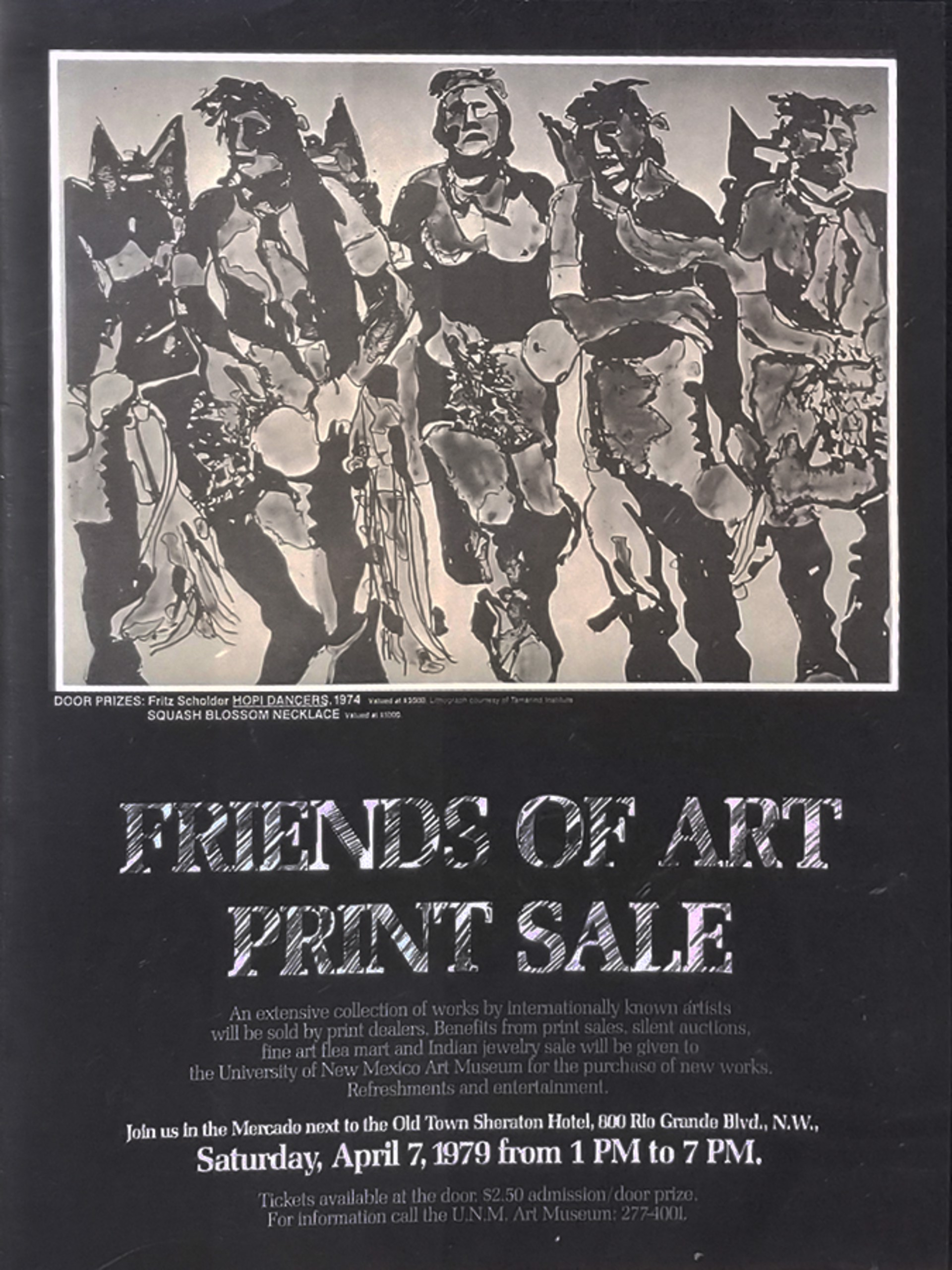 Friends of Art Poster by Fritz Scholder