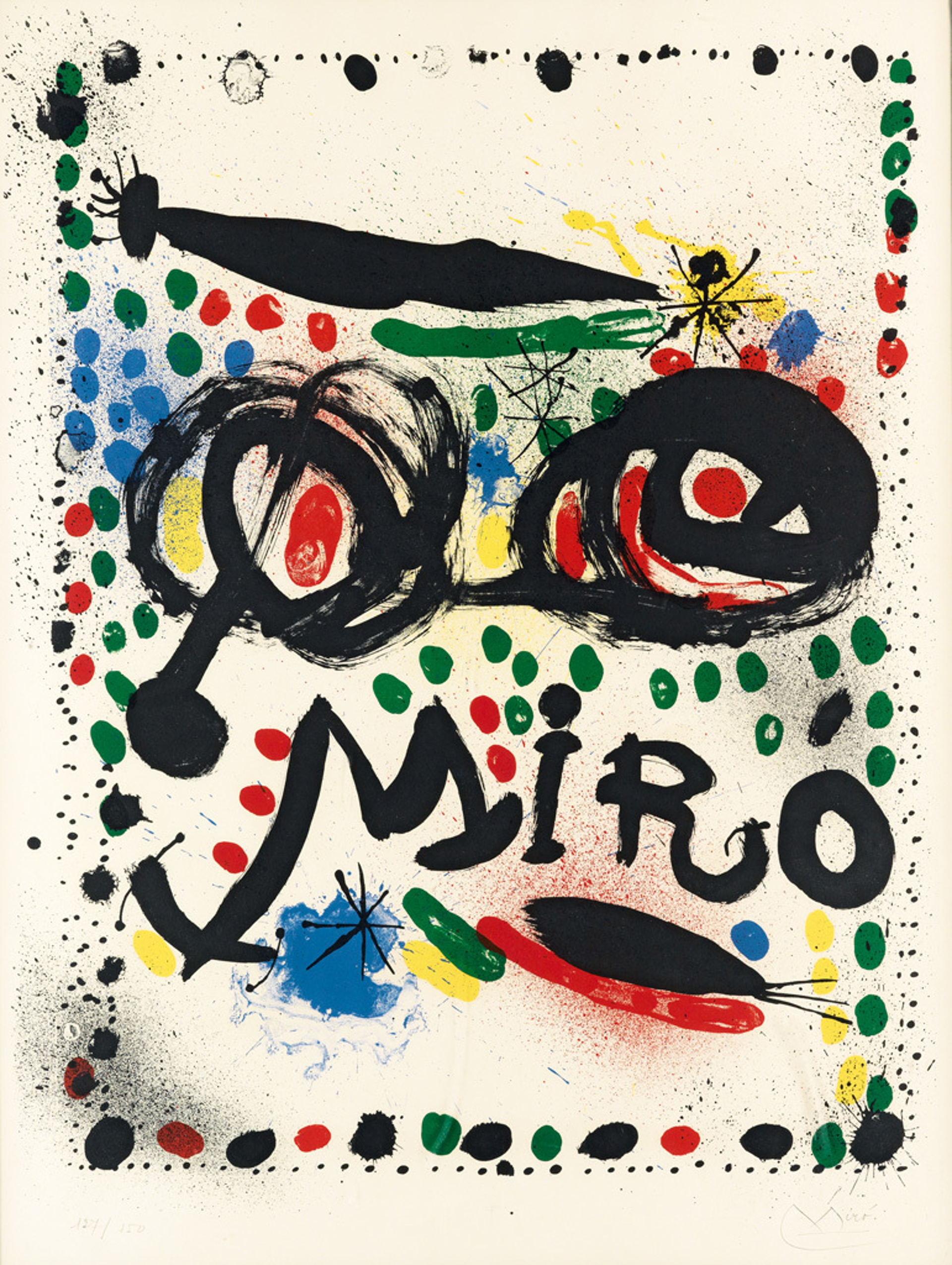 """Poster for the Exhibition """"Joan Miro Graphics"""" Philadelphia Museum of Art by Joan Miro (1893 - 1983)"""