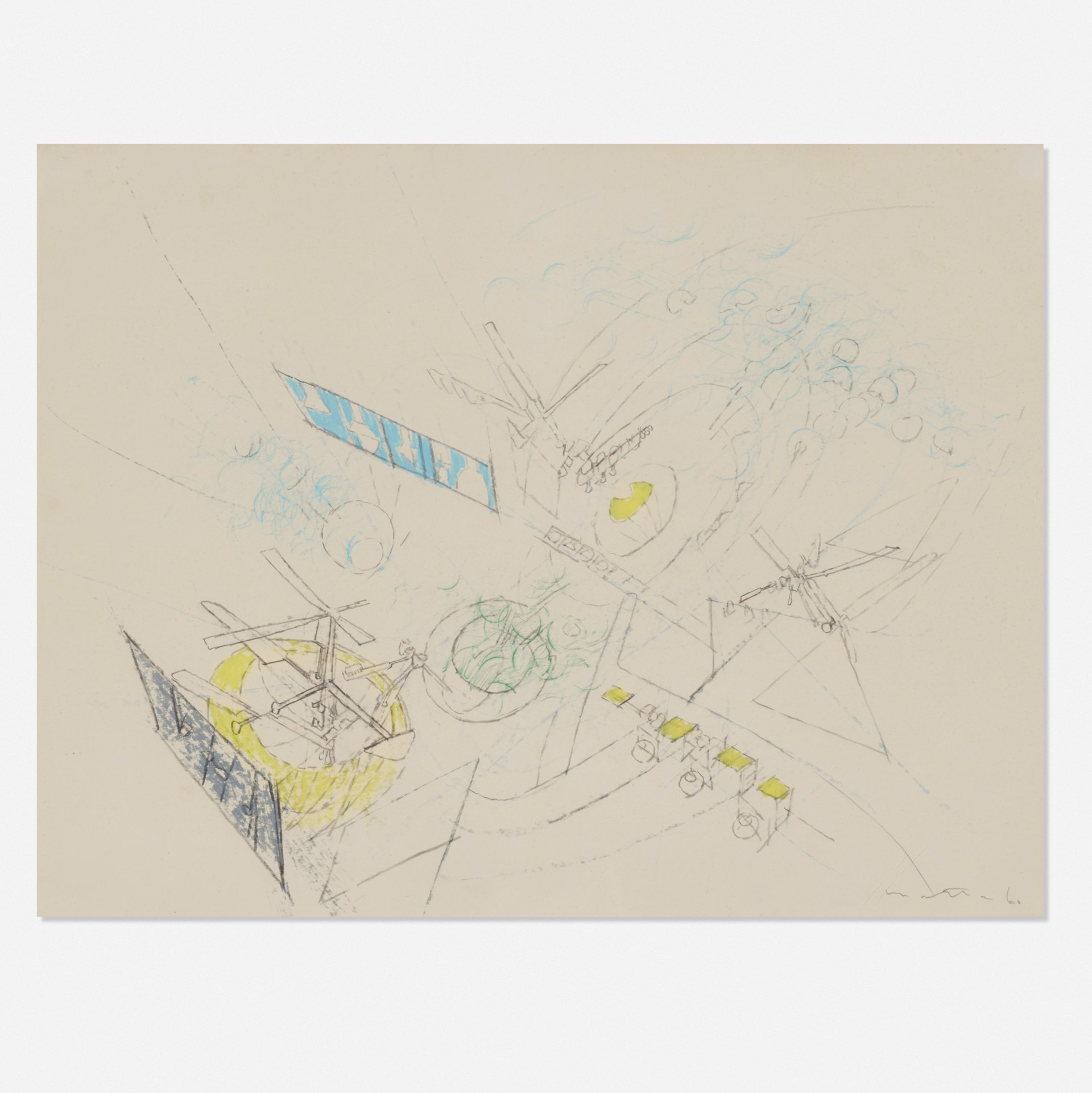 Study for a painting by Roberto Matta (1911 - 2002)