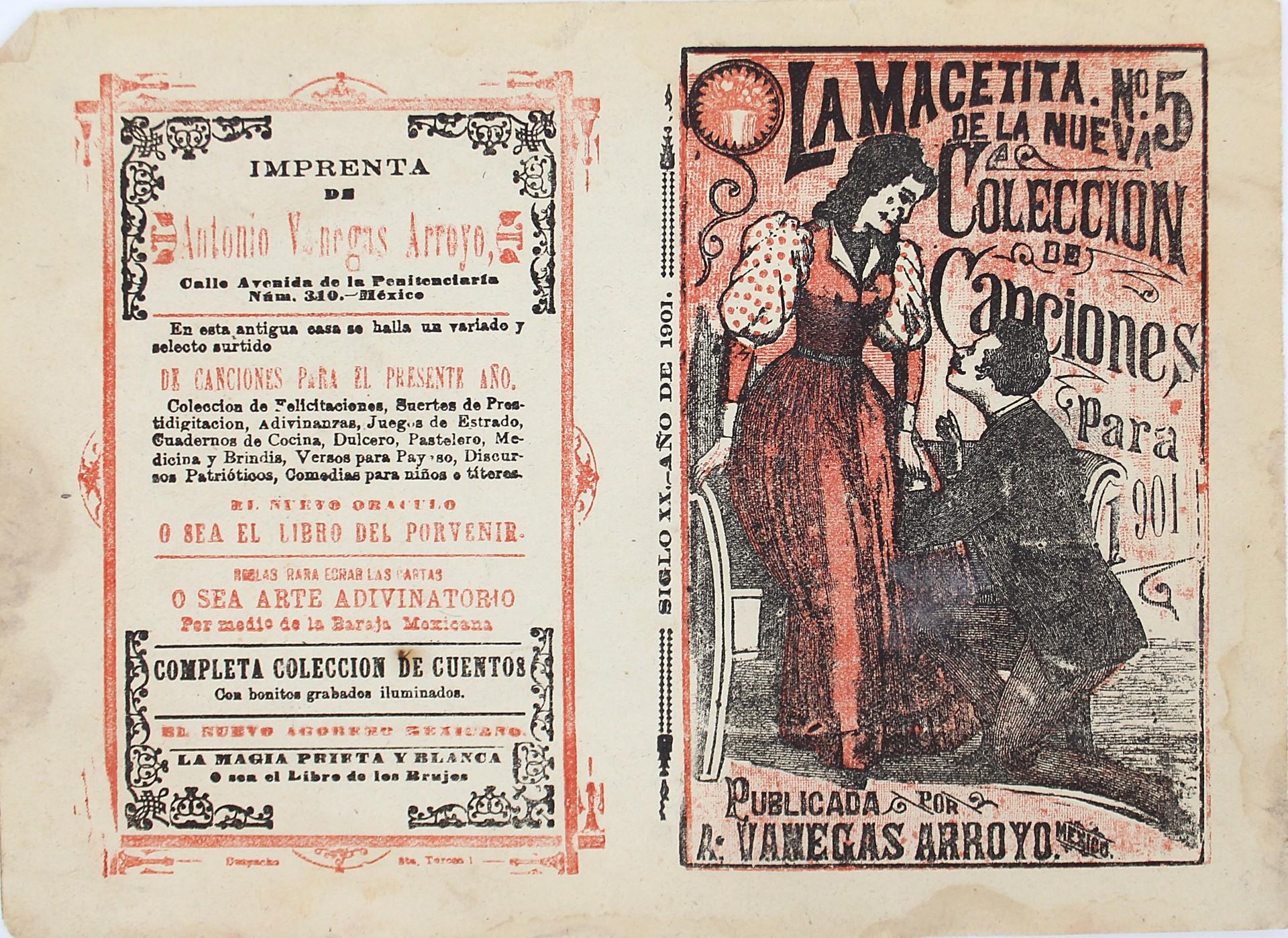 La Macetita. Nueva Colección de Canciones No. 5 by José Guadalupe Posada (1852 - 1913)