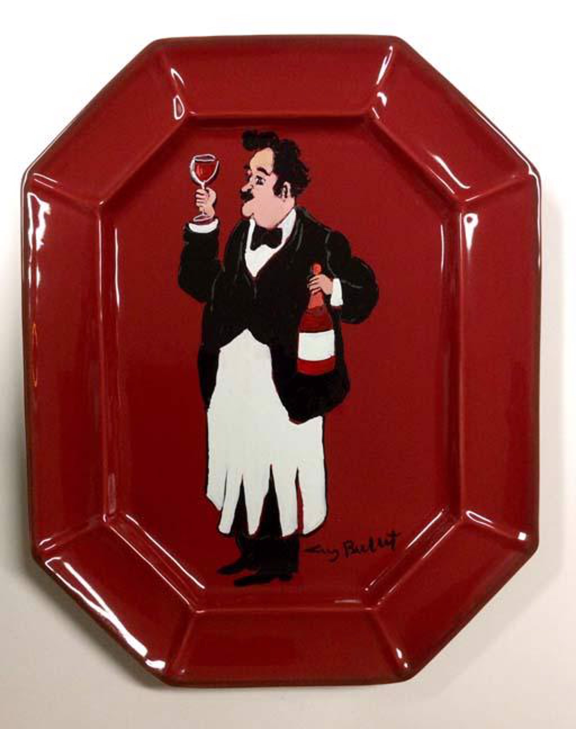 Platter (A Fine Burgundy - Red)* by Guy Buffet