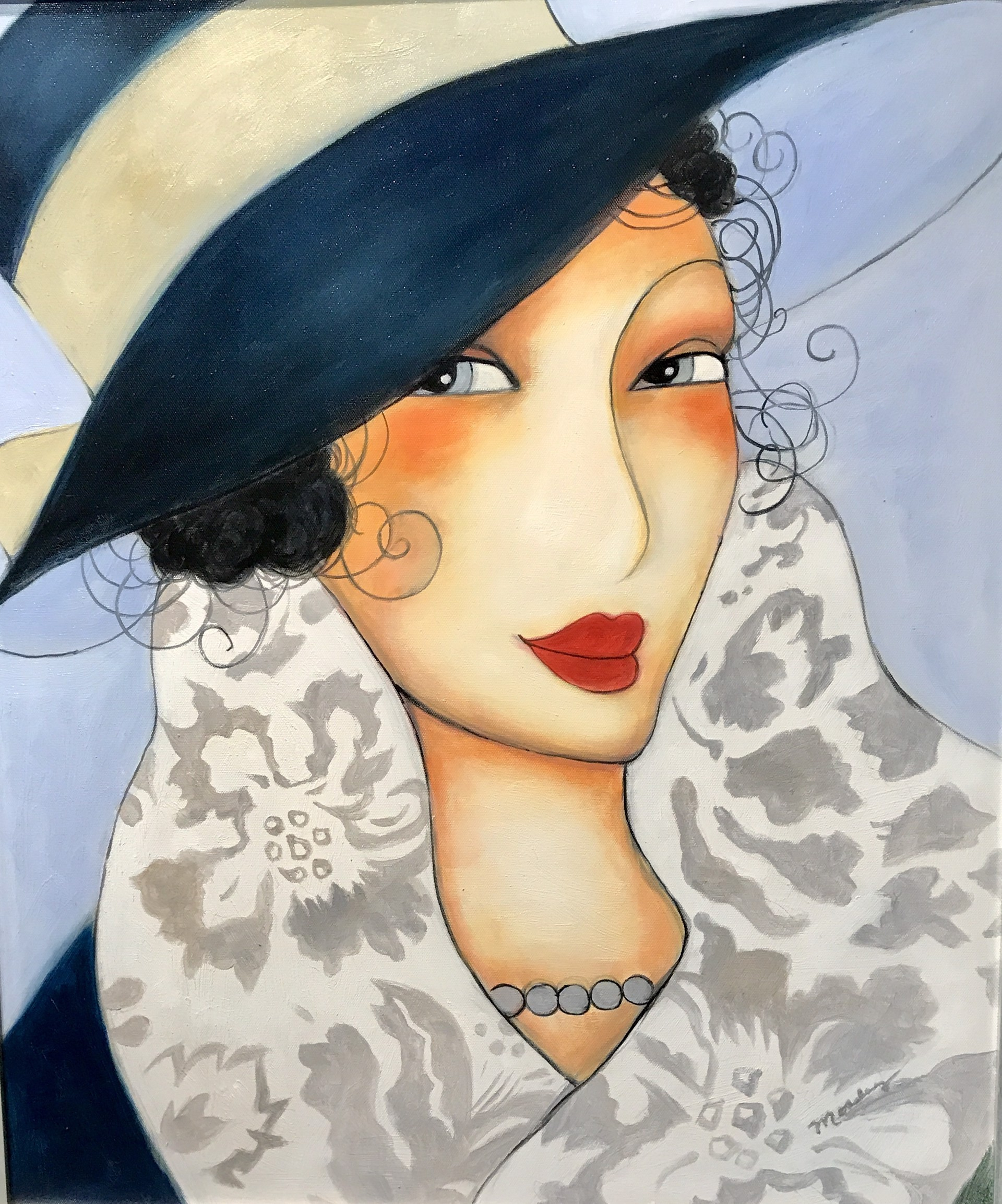 A LADY IN PEARLS by MOSLEY