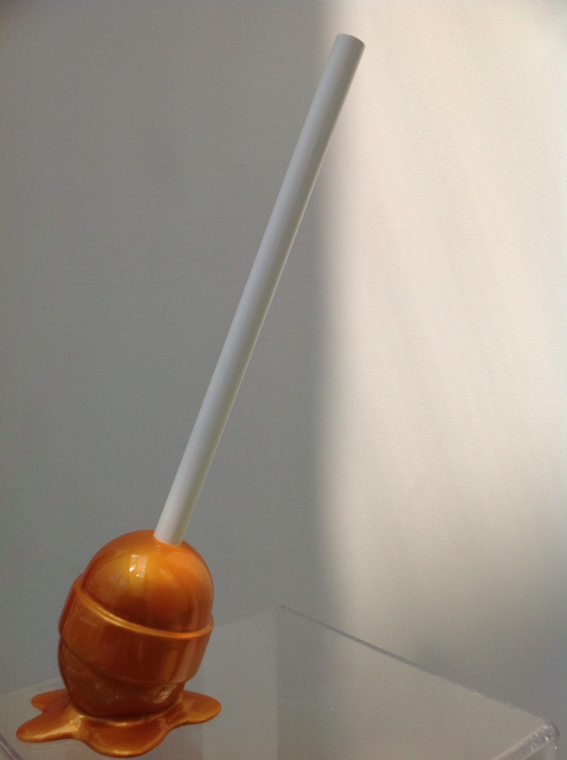 The Sweet Life Small Gold Lollipop by Elena Bulatova