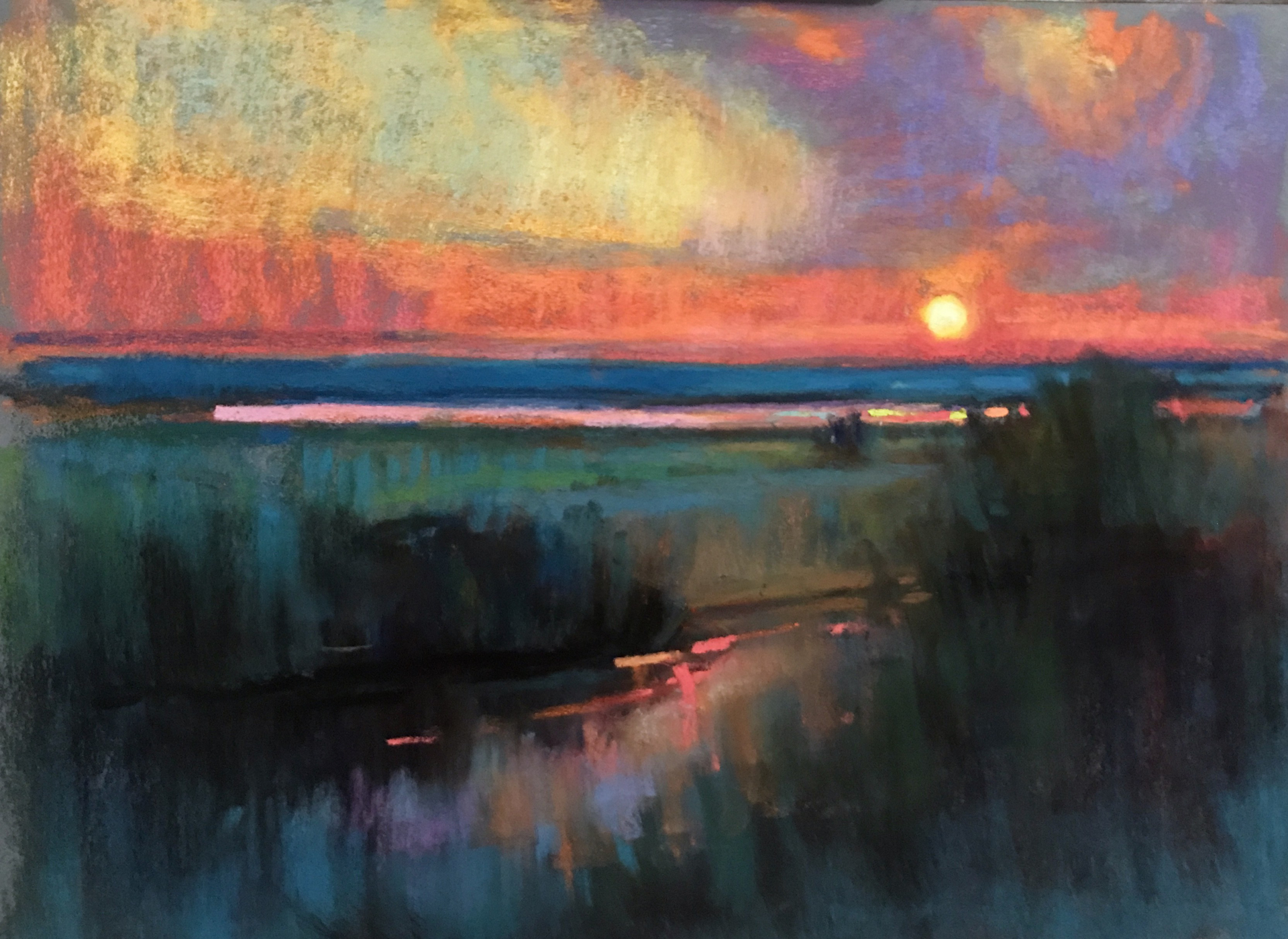 Spring Marsh, Dusk by Susan Mayfield