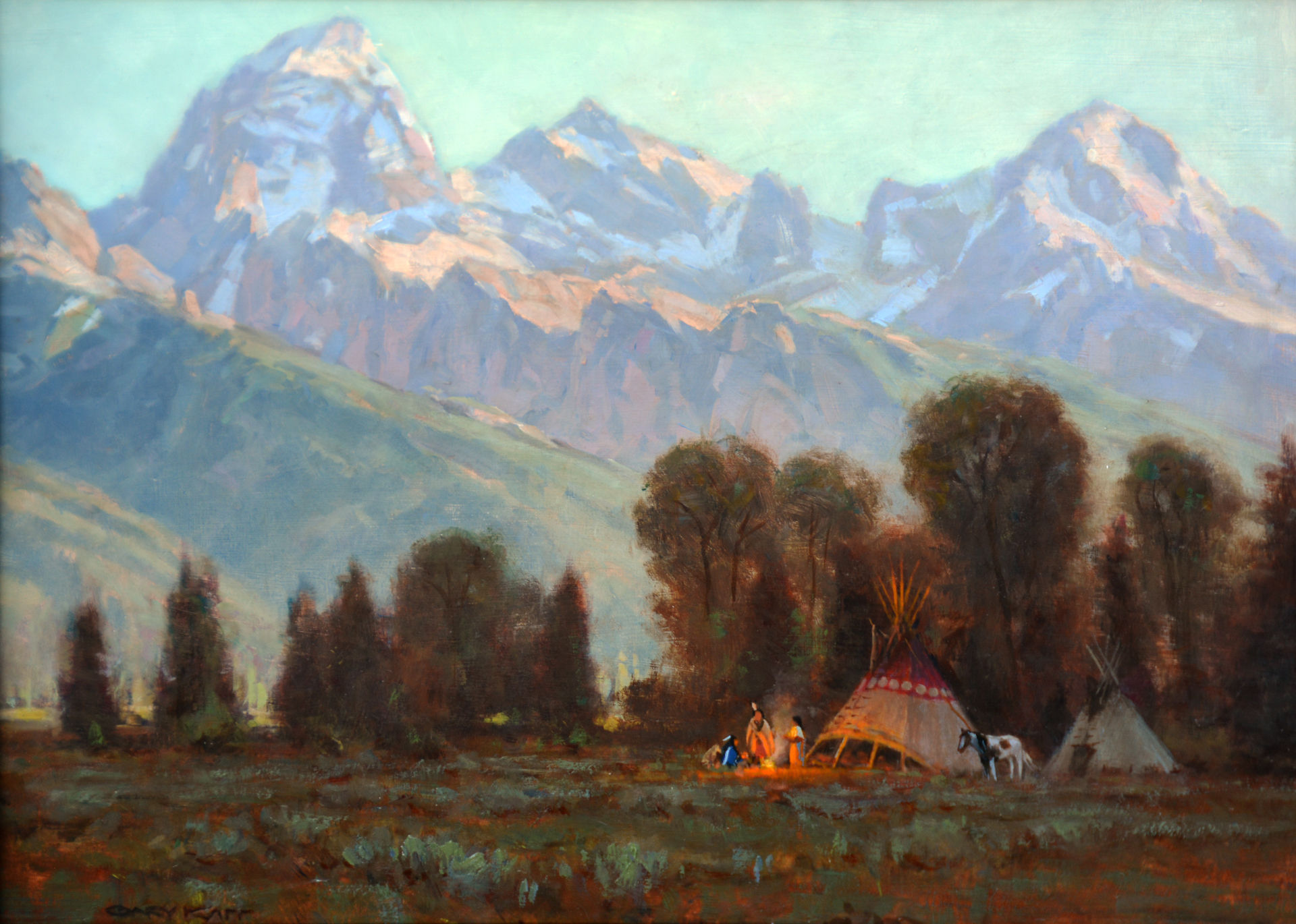 A New Day in the Tetons by Gary Kapp