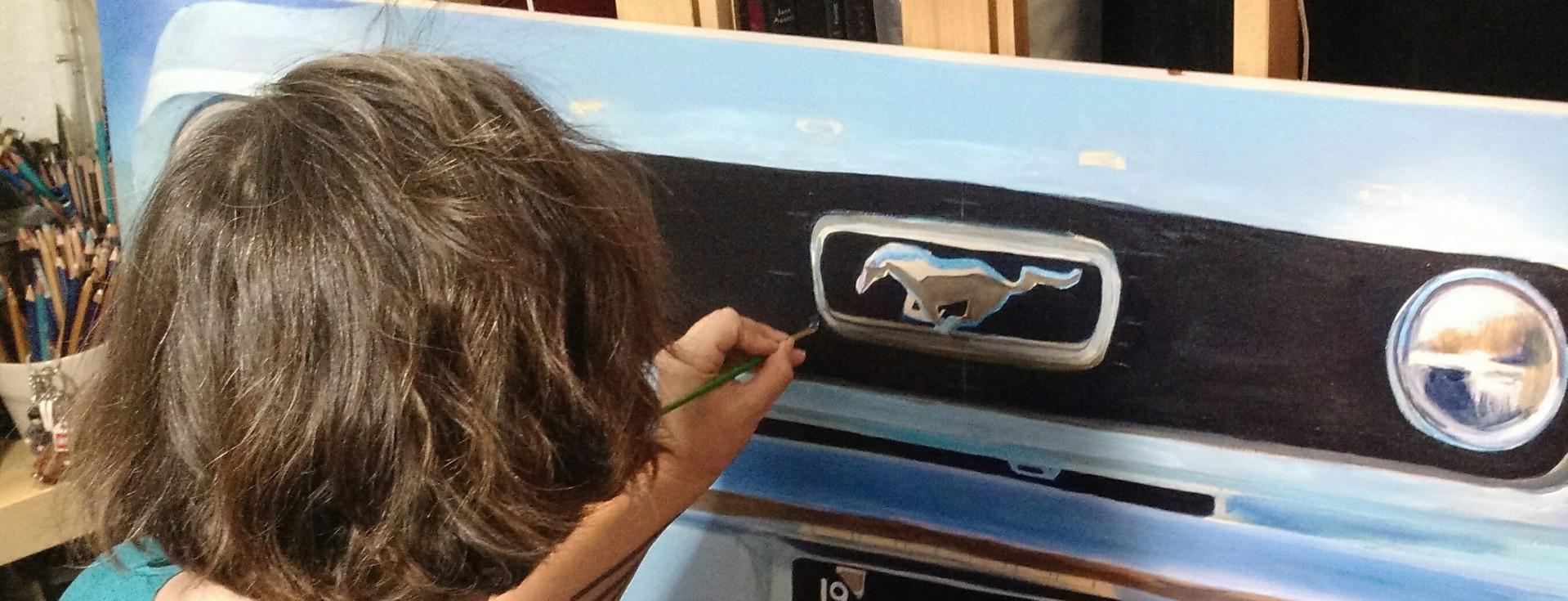 1966 Arctic Blue Mustang by Shan Fannin