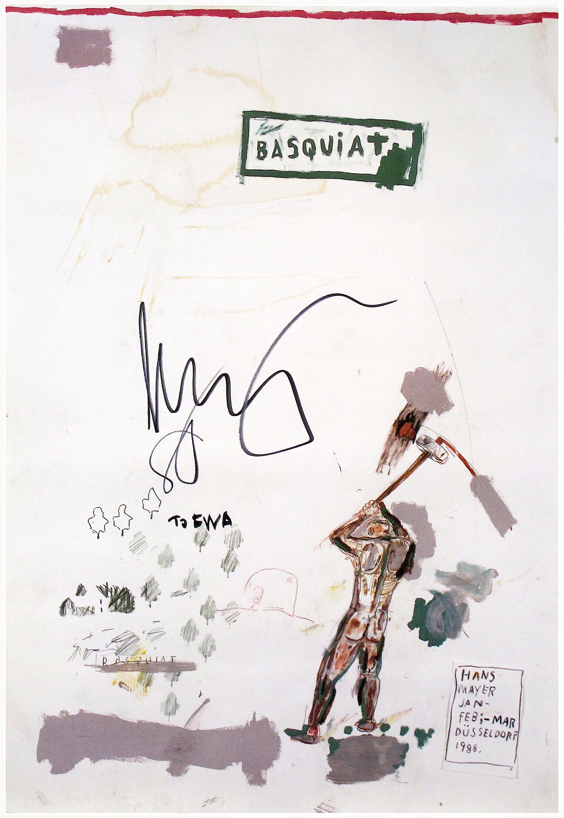 Hans Meyer by Jean-Michel Basquiat