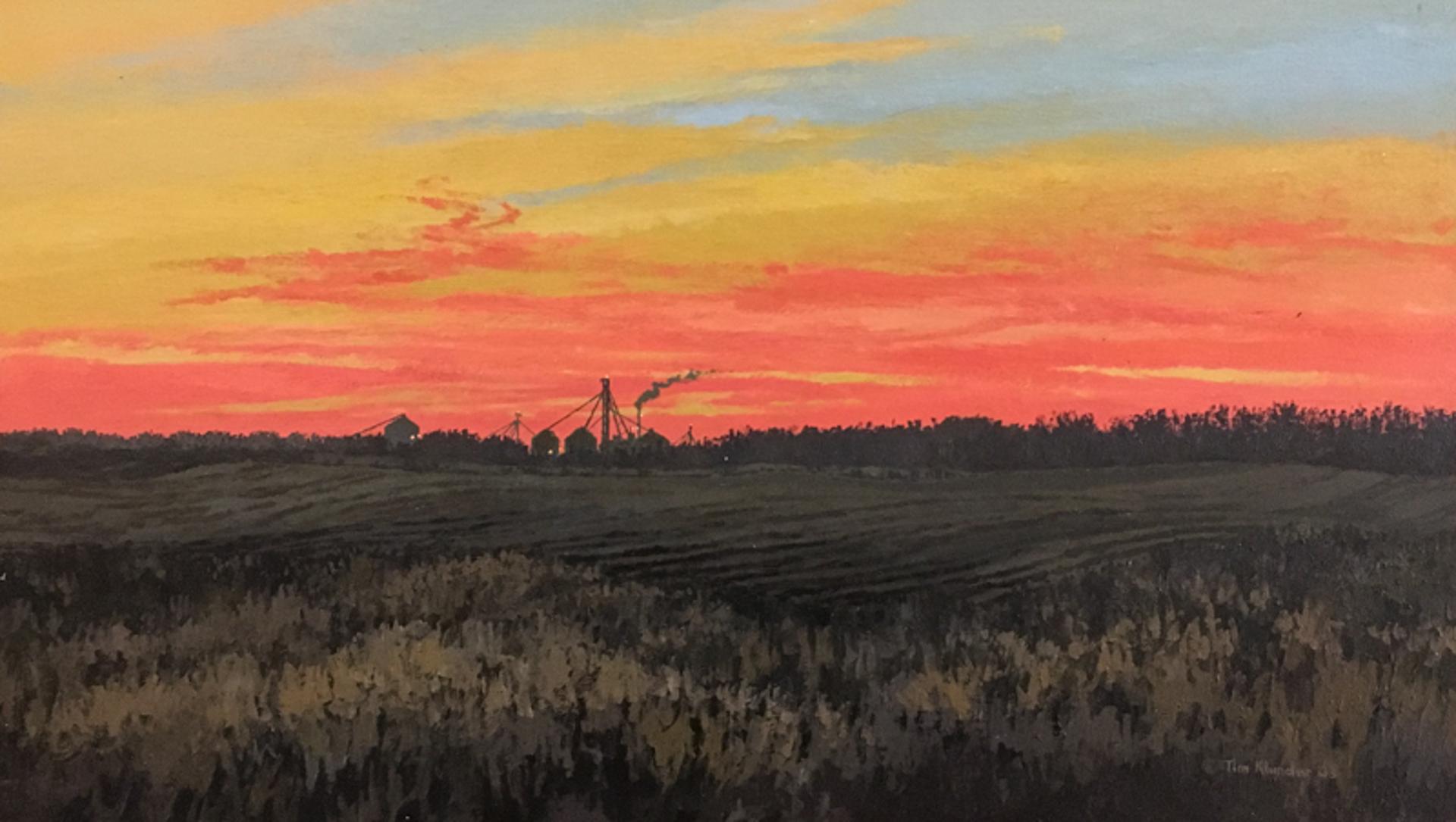 Red Sunset #1 by Tim Klunder
