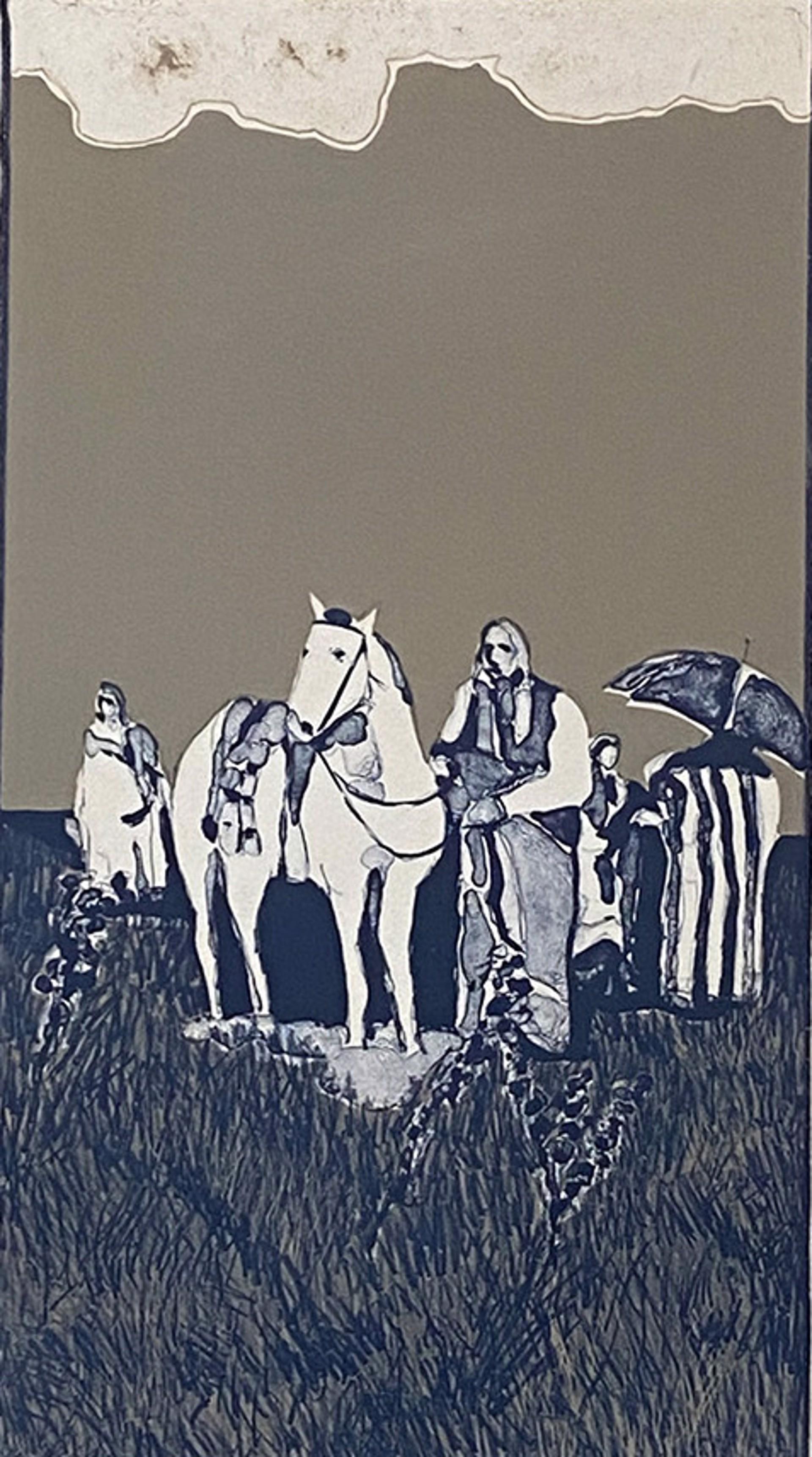 Indian Landscape State I by Fritz Scholder